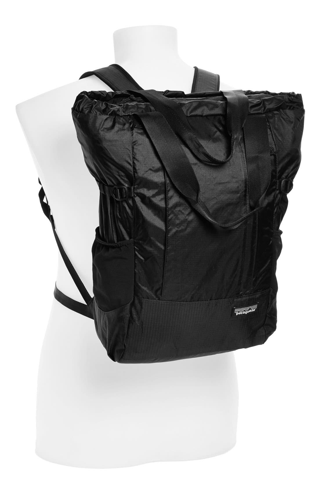 Lightweight Travel Tote Pack,                             Alternate thumbnail 2, color,                             Black