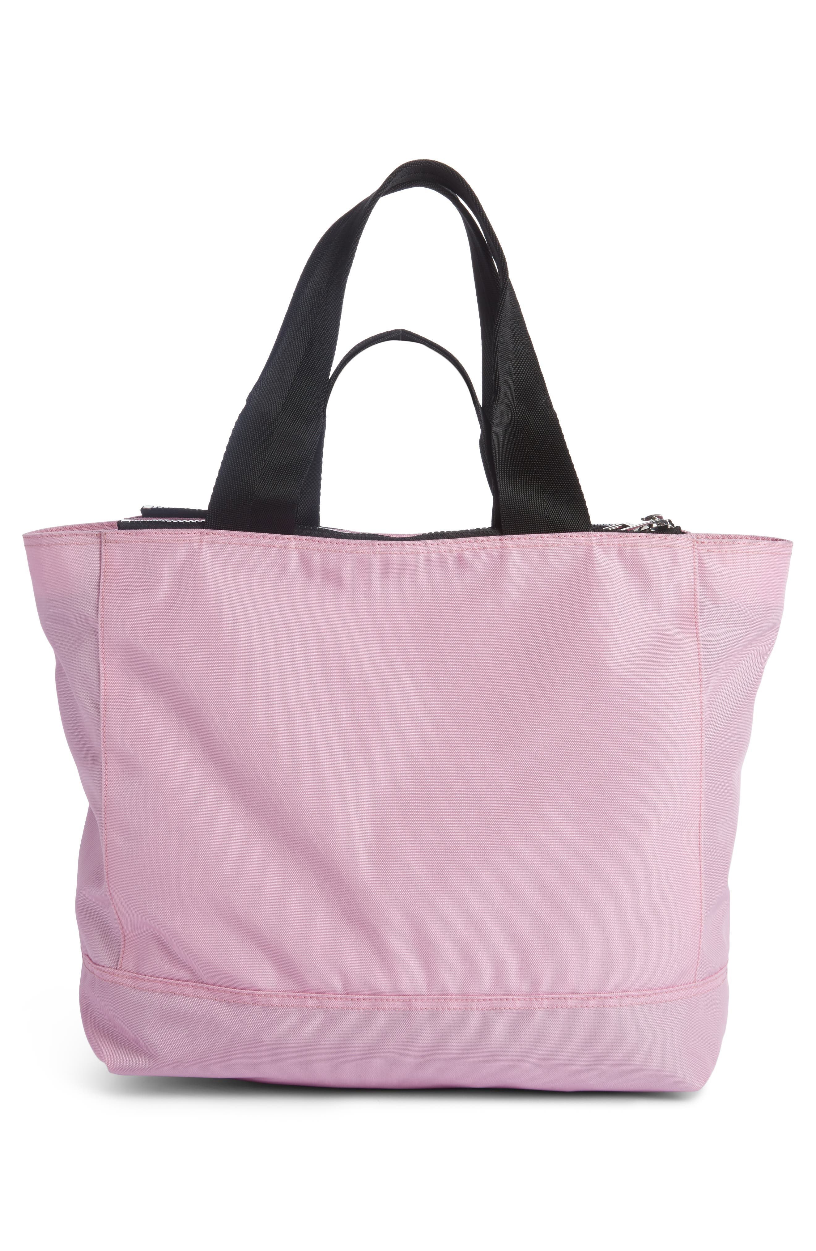 Large Kanvas Embroidered Tiger Tote,                             Alternate thumbnail 2, color,                             Flamingo Pink
