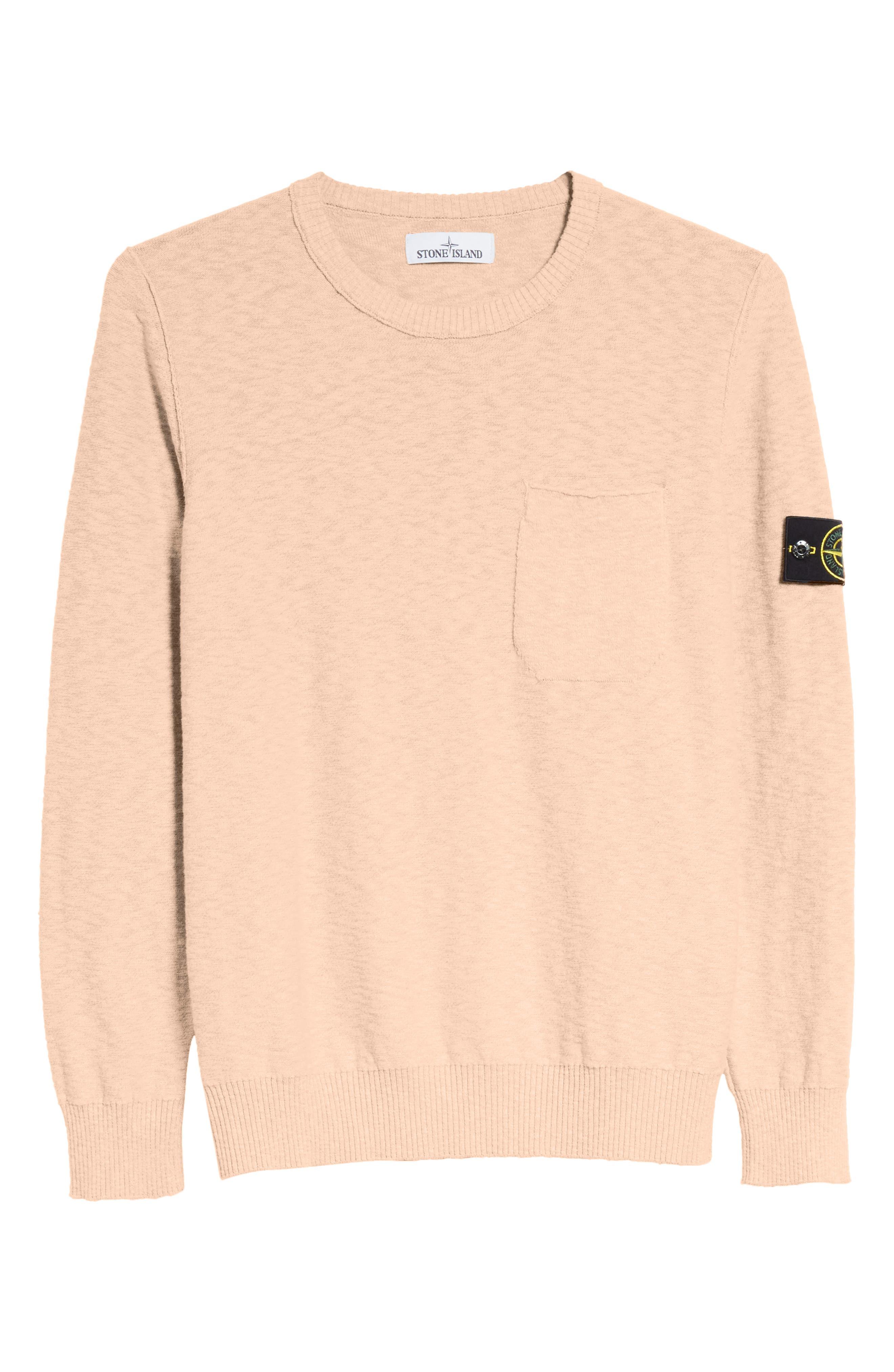 Garment Dyed Cotton Blend Sweatshirt,                             Alternate thumbnail 6, color,                             Coral