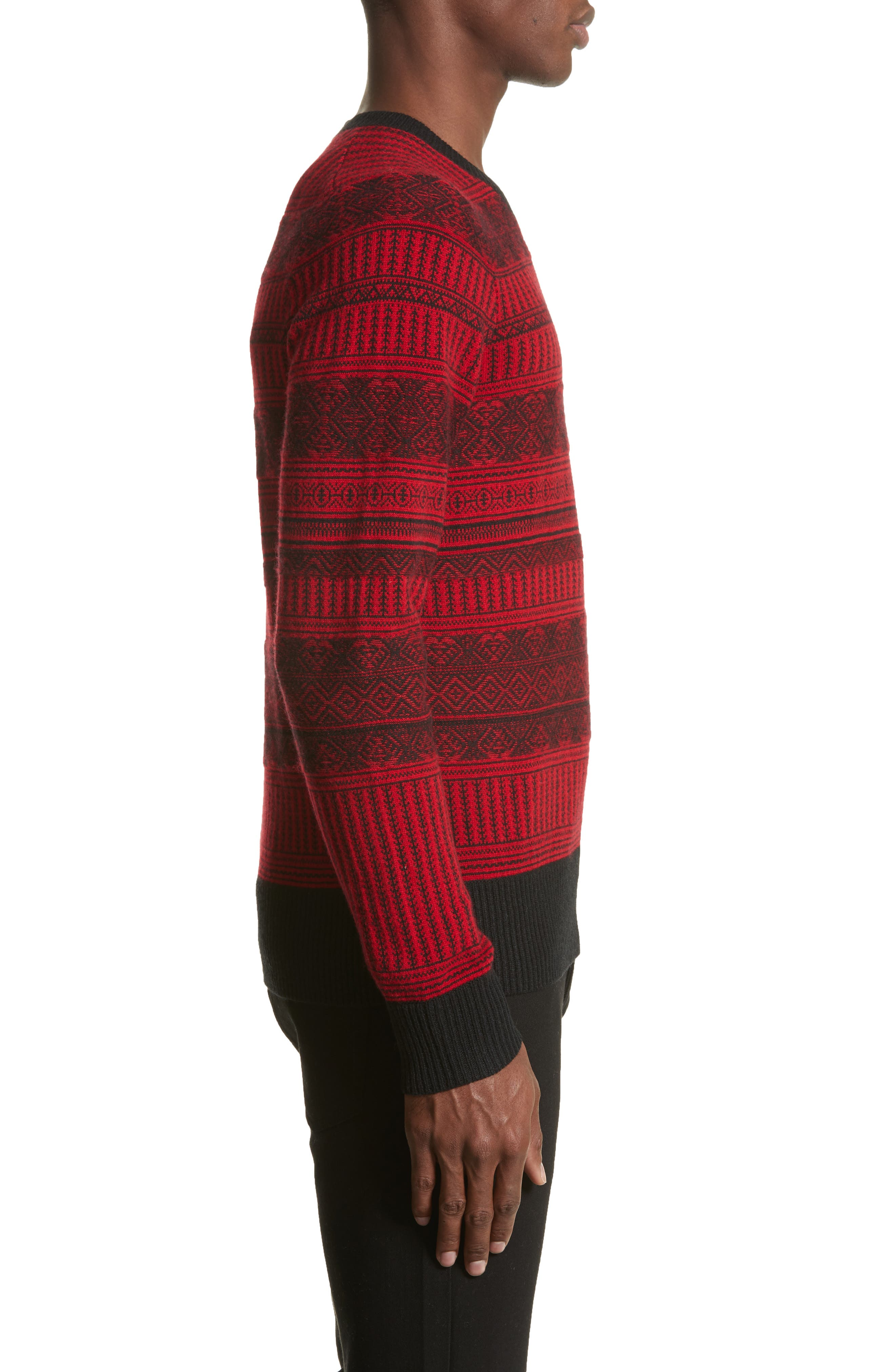 Tredway Wool & Cashmere Sweater,                             Alternate thumbnail 3, color,                             Military Red