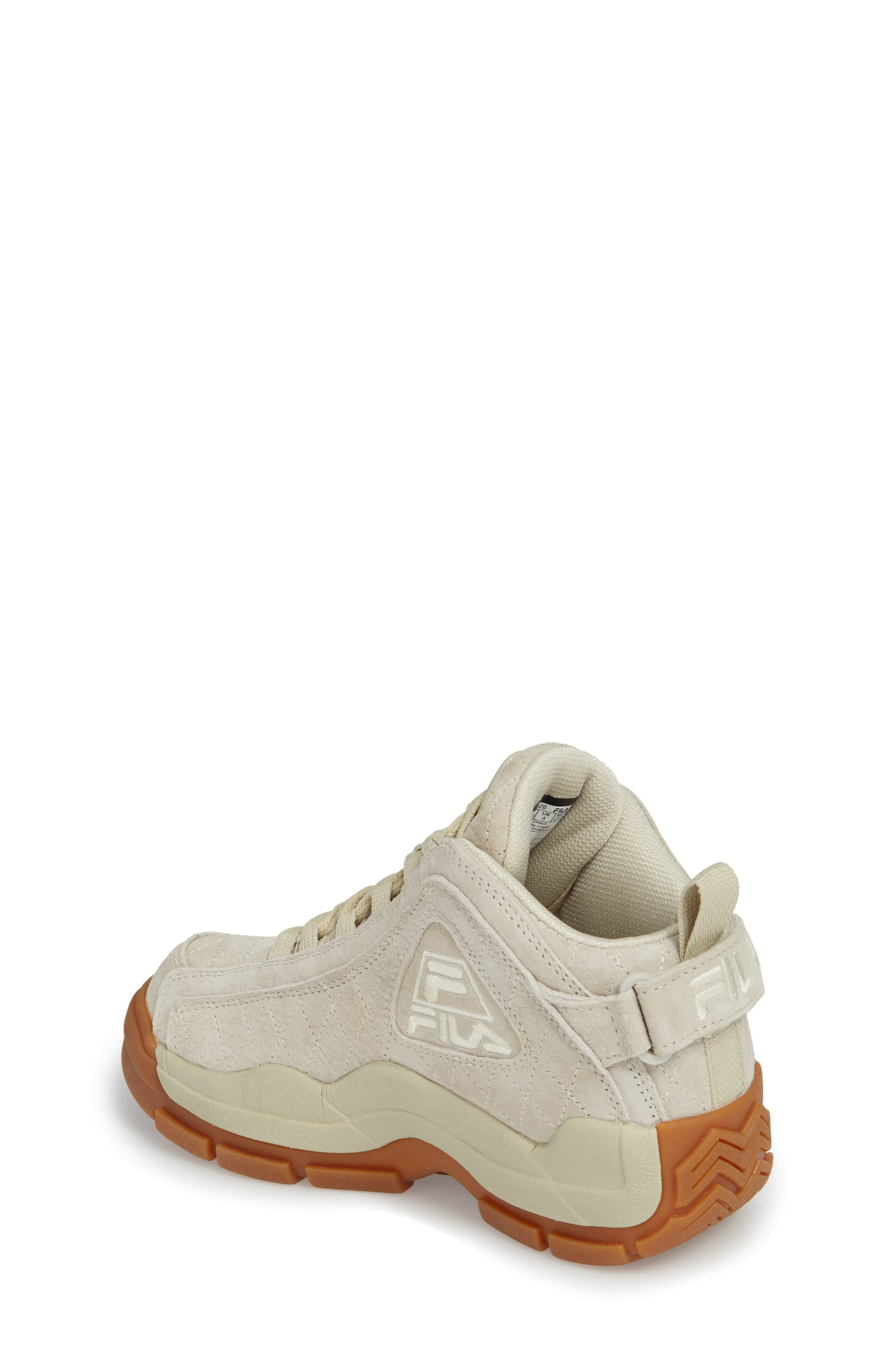 96 Quilted Mid-Top Sneaker,                             Alternate thumbnail 2, color,                             Cream/ Gum
