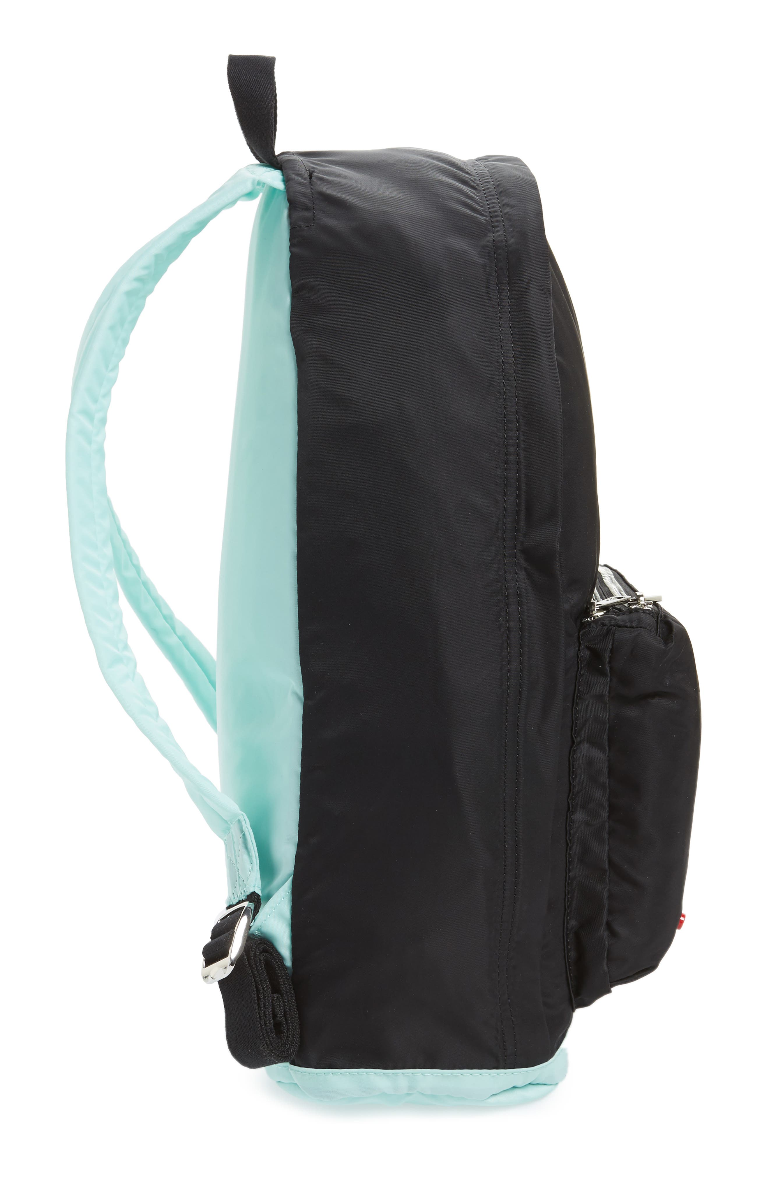The Heights Adams Backpack,                             Alternate thumbnail 5, color,                             Black/ Mint