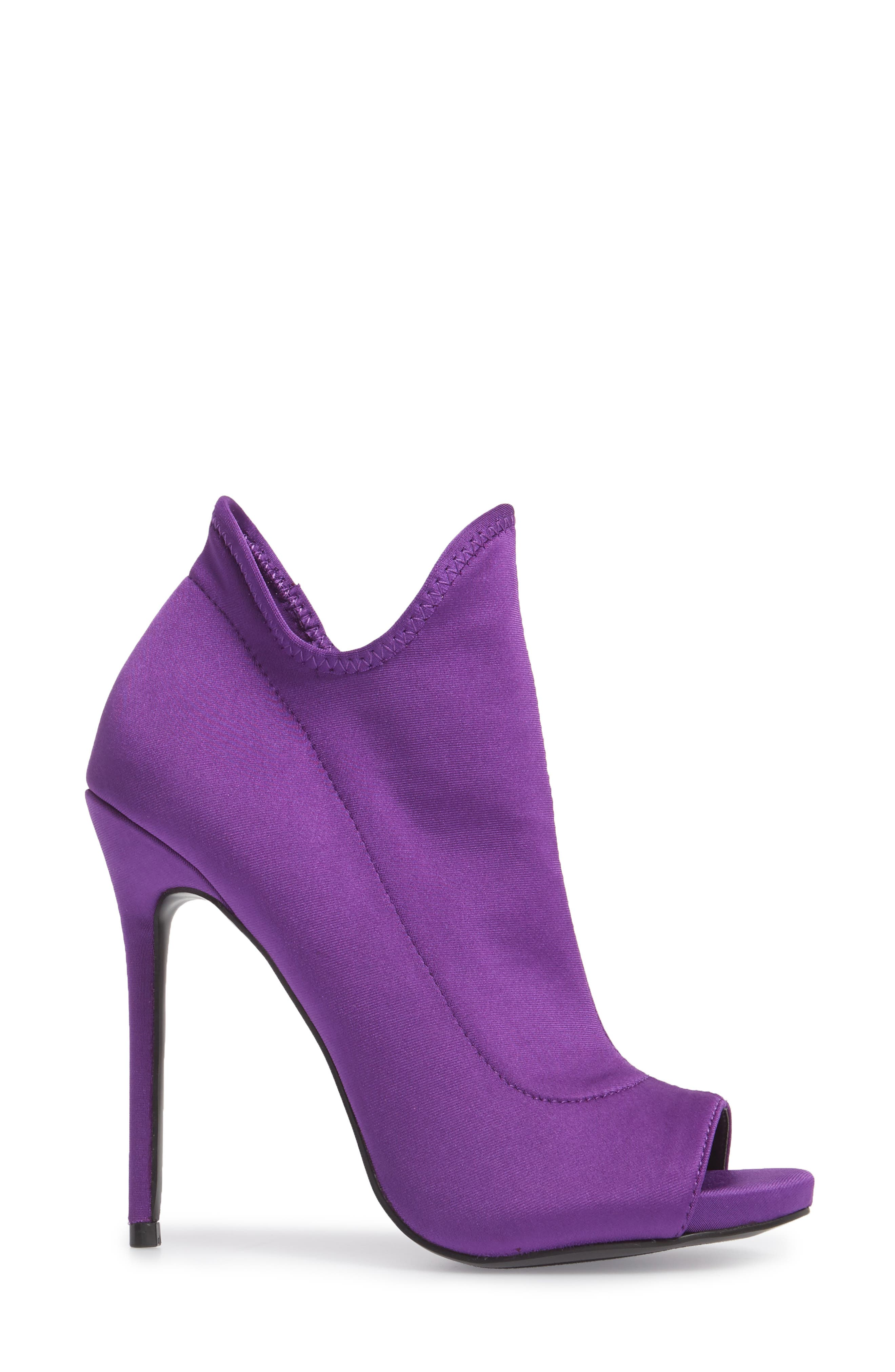 Secure Sock Bootie,                             Alternate thumbnail 3, color,                             Purple