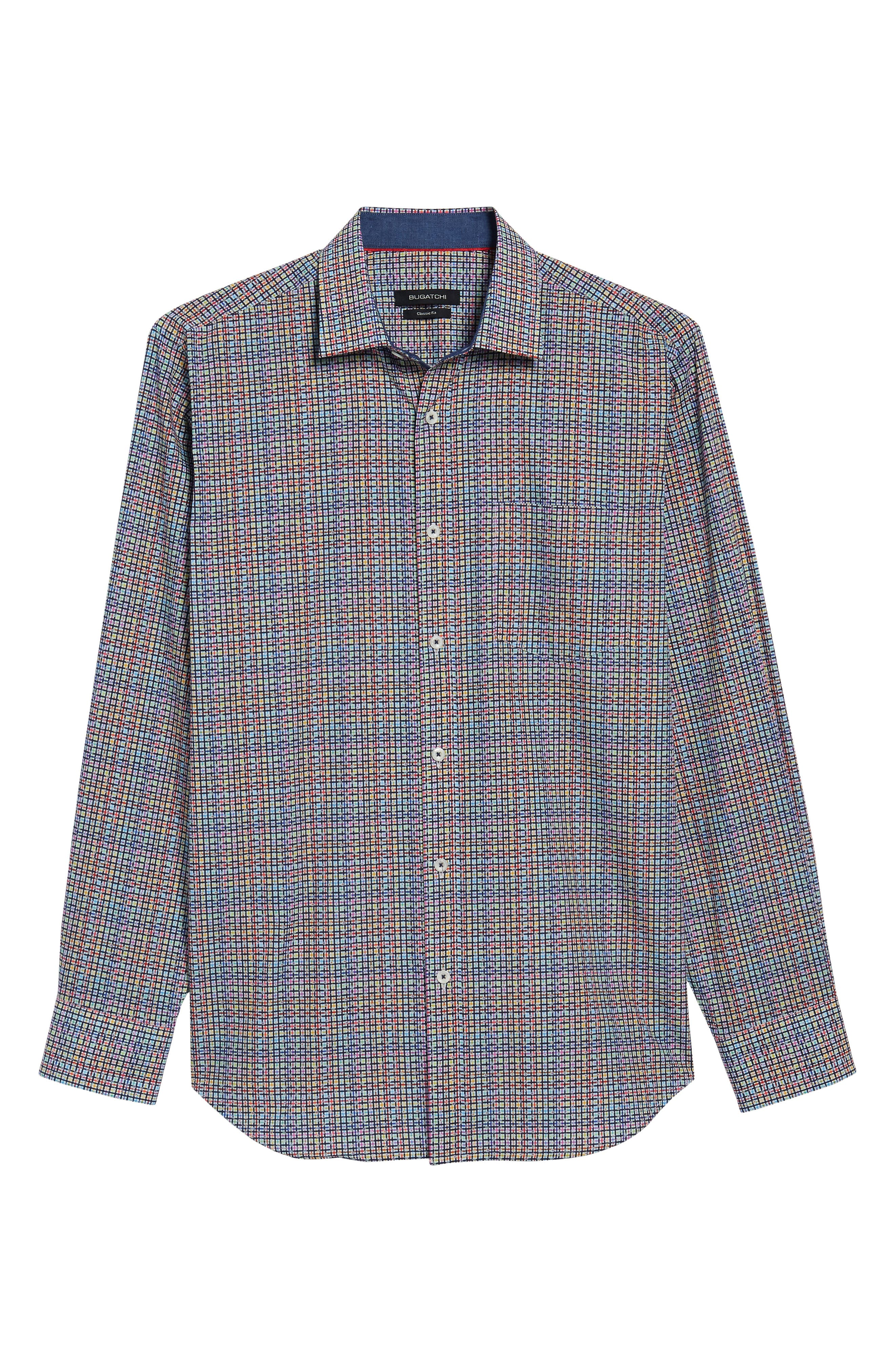 Alternate Image 6  - Bugatchi Classic Fit Plaid Sport Shirt