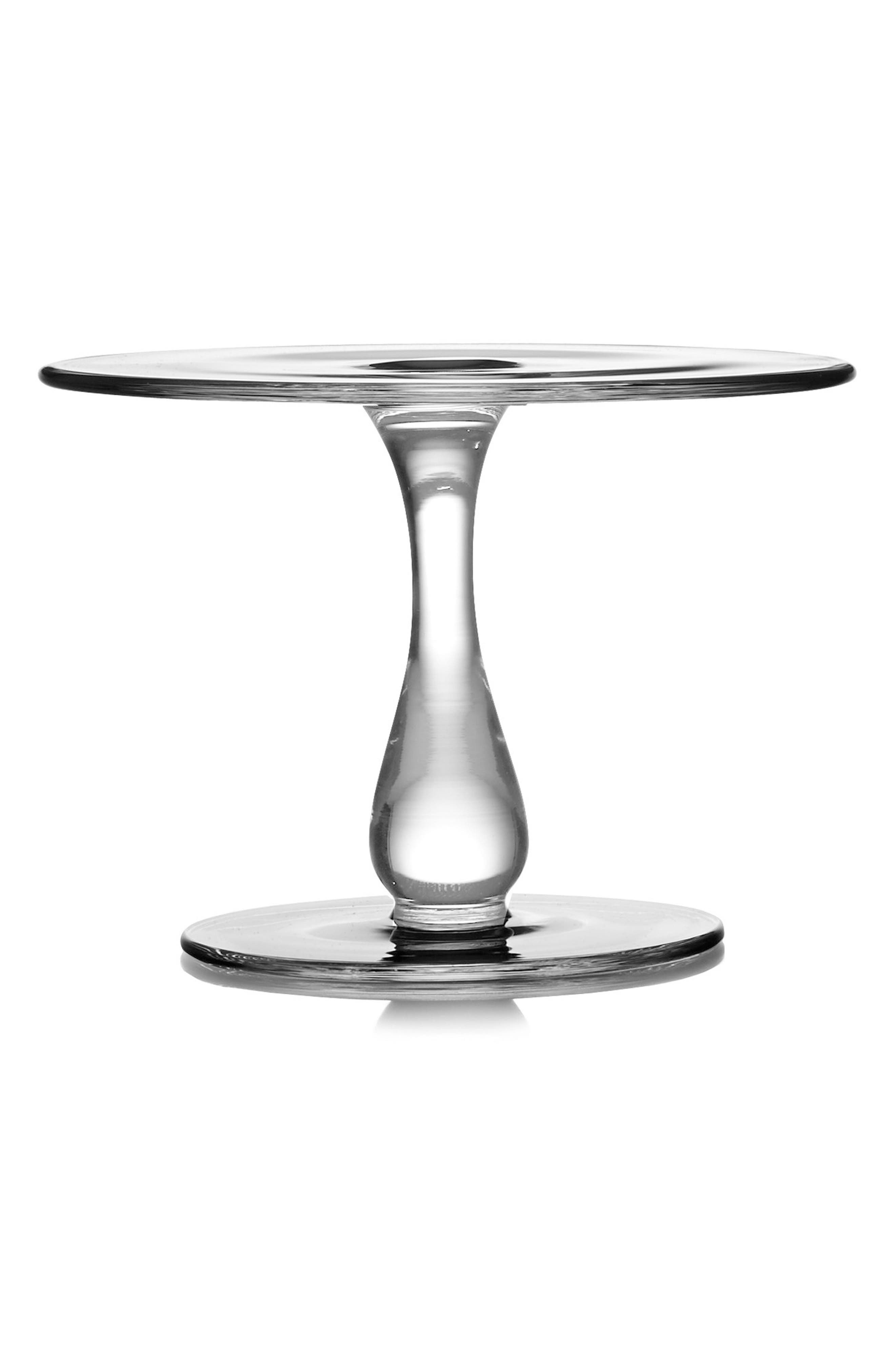 Moderne Cake Plate,                         Main,                         color, Clear