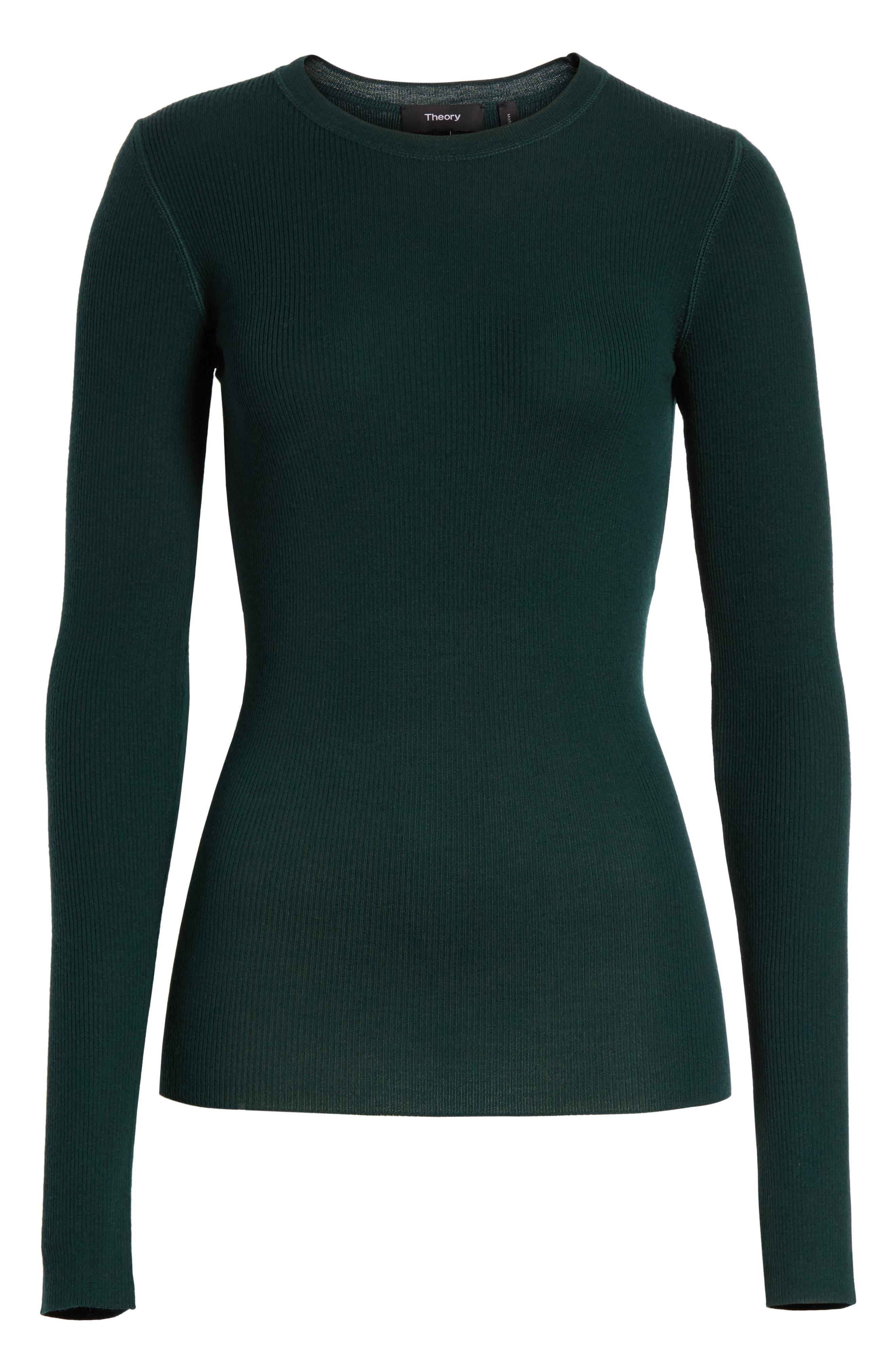 Alternate Image 6  - Theory Mirzi Ribbed Sweater
