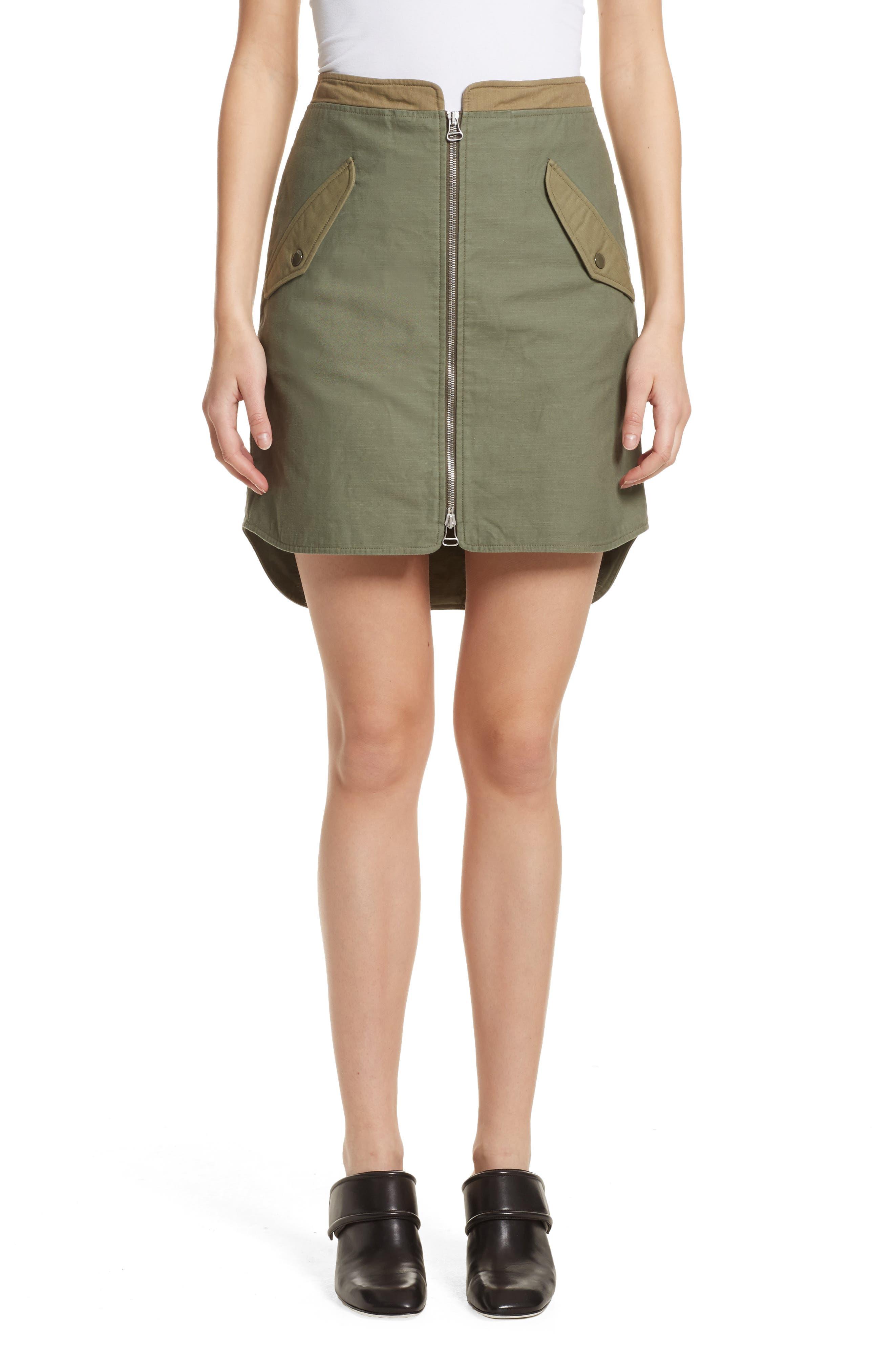 rag & bone Maverick Zip Front Miniskirt