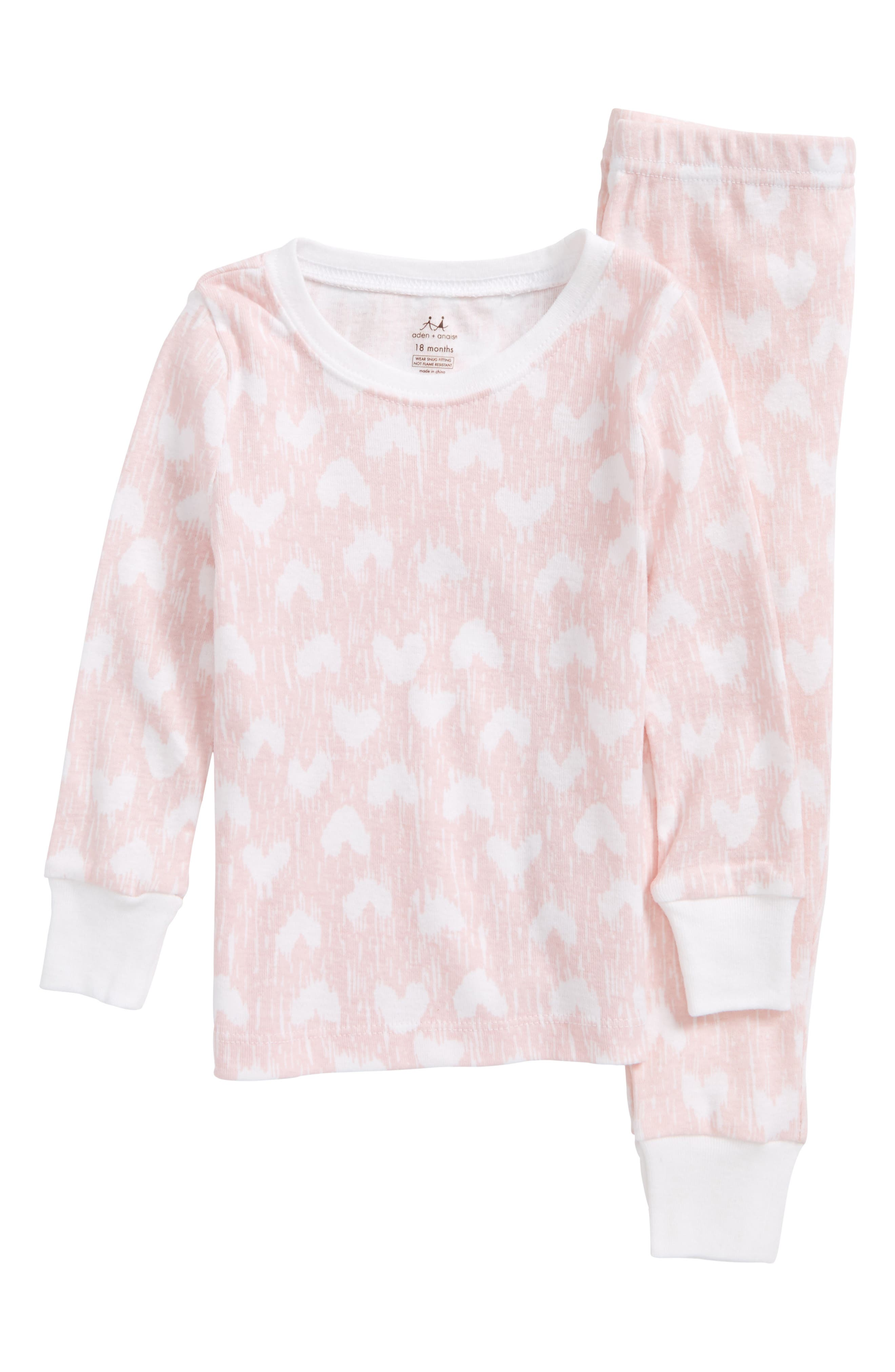 aden + anais Fitted Two-Piece Pajamas Set (Baby Girls)