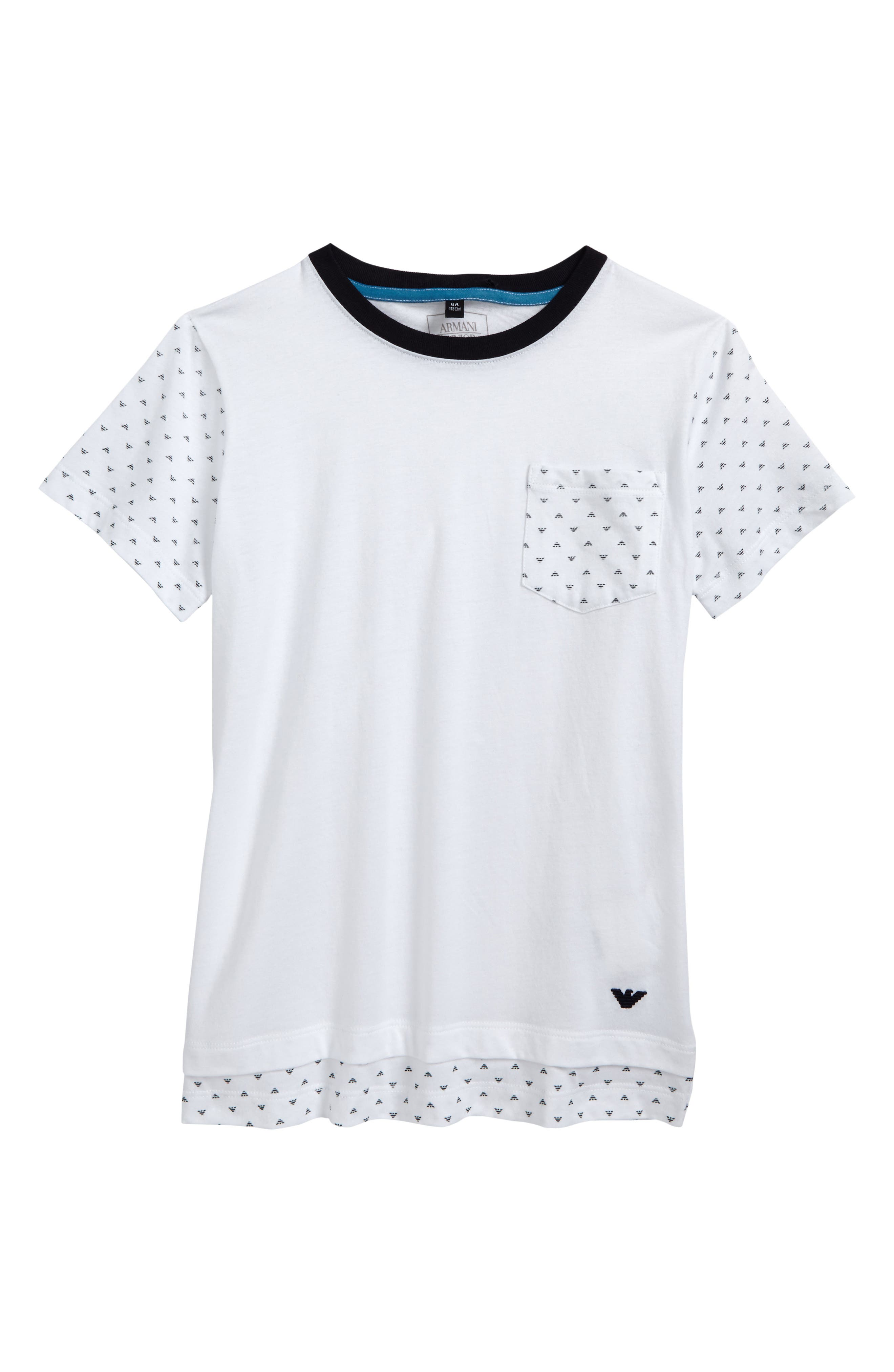 Logo Pocket T-Shirt,                         Main,                         color, White