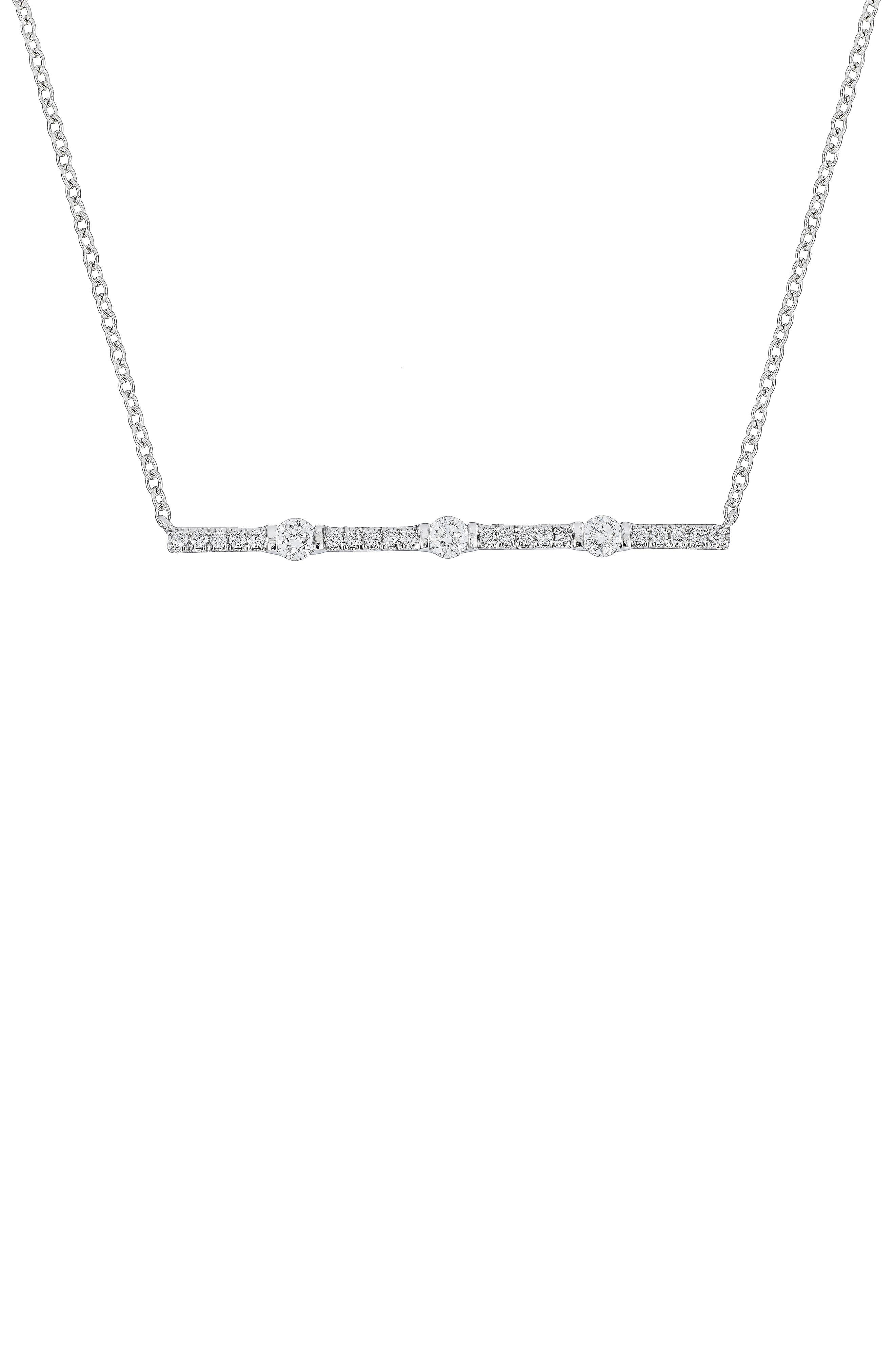 Main Image - Bony Levy Liora Diamond Bar Pendant Necklace (Nordstrom Exclusive)