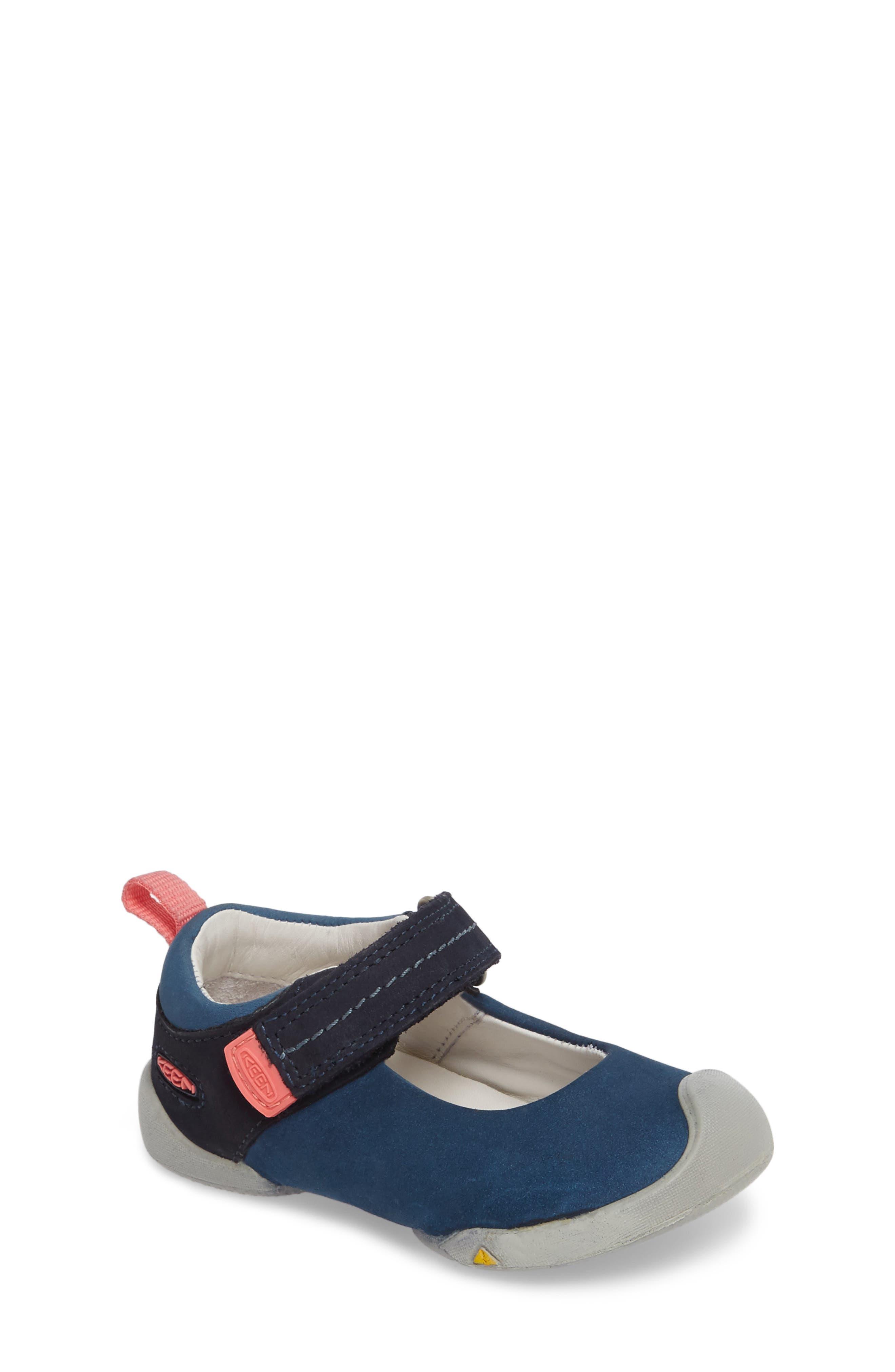 Pep Mary Jane-T Sneaker,                             Main thumbnail 1, color,                             Dress Blues/ Sugar Coral
