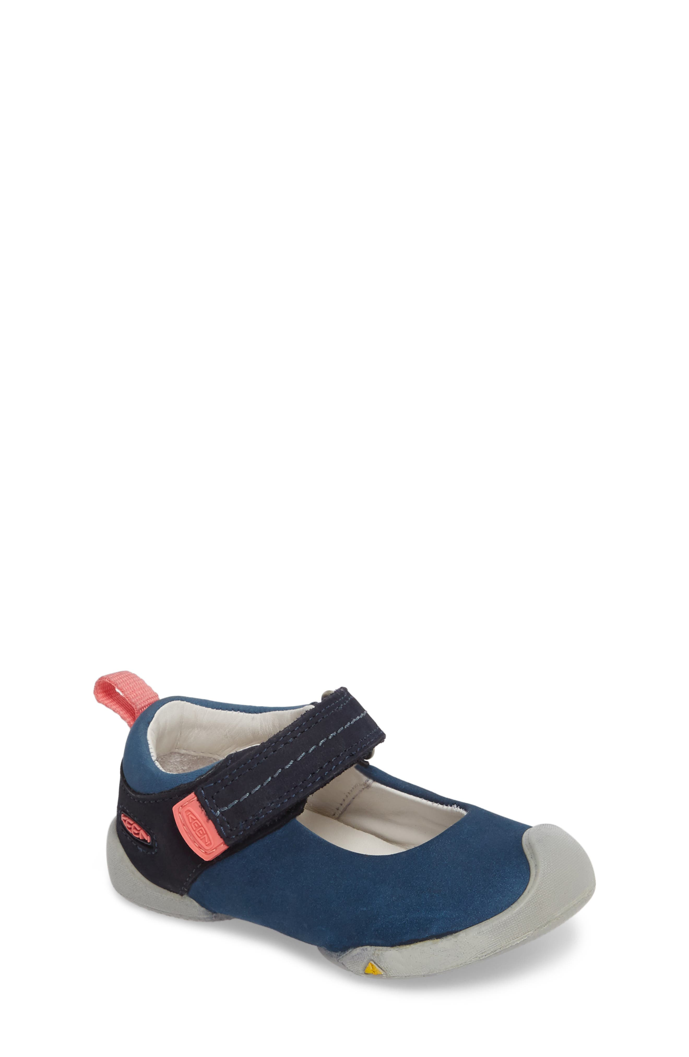 Pep Mary Jane-T Sneaker,                         Main,                         color, Dress Blues/ Sugar Coral