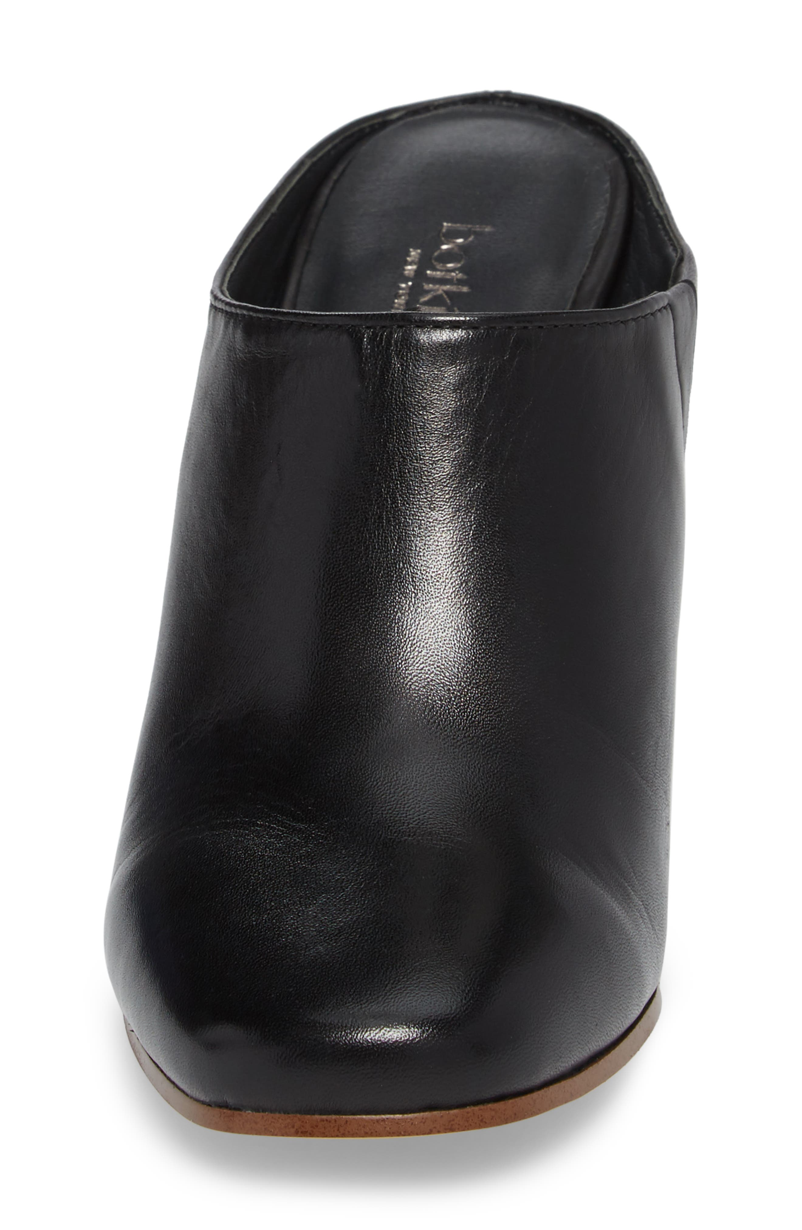 Sherry Mule,                             Alternate thumbnail 4, color,                             Black Nappa Leather