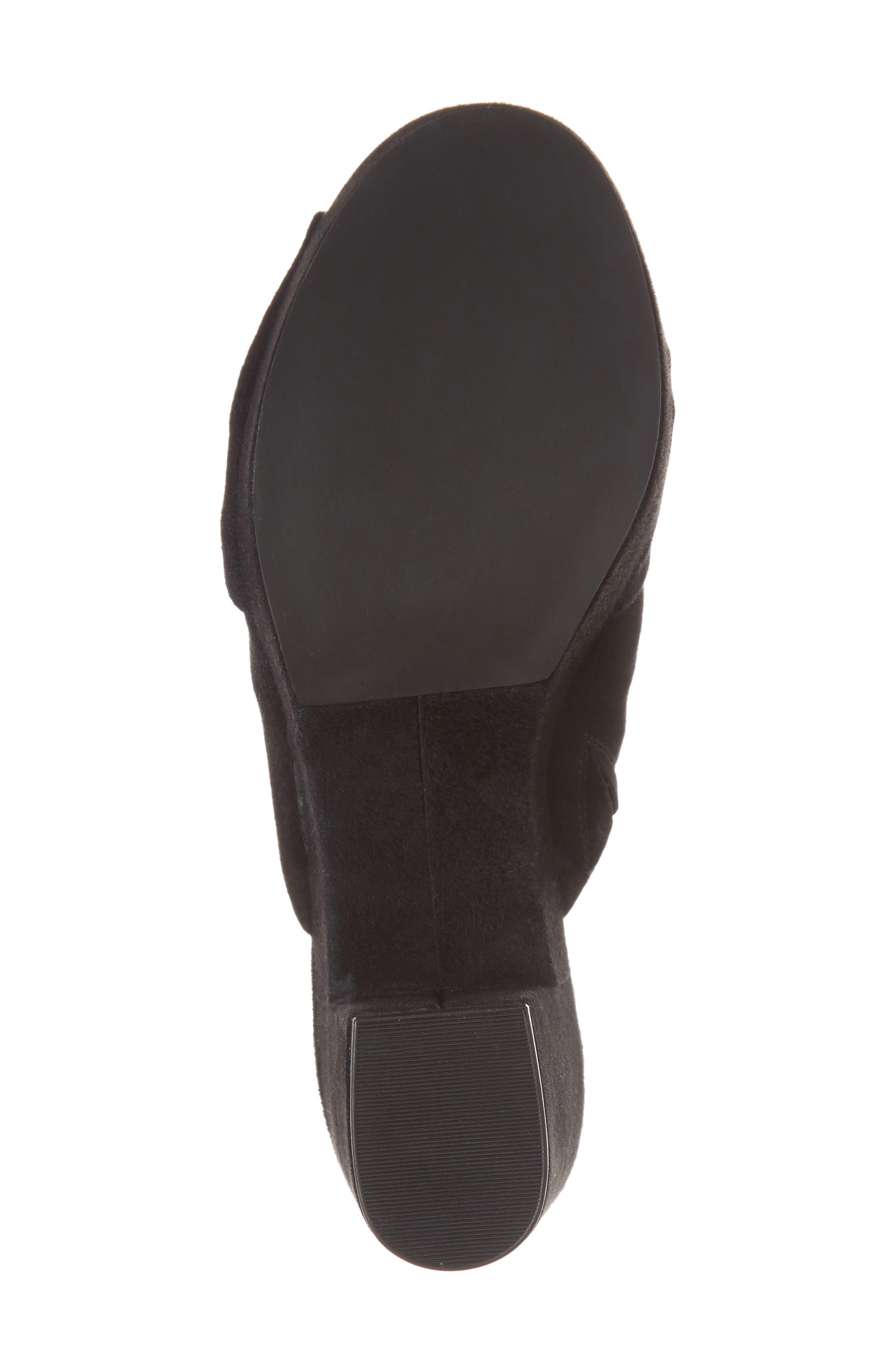 Jaden Slide Sandal,                             Alternate thumbnail 6, color,                             Black Satin