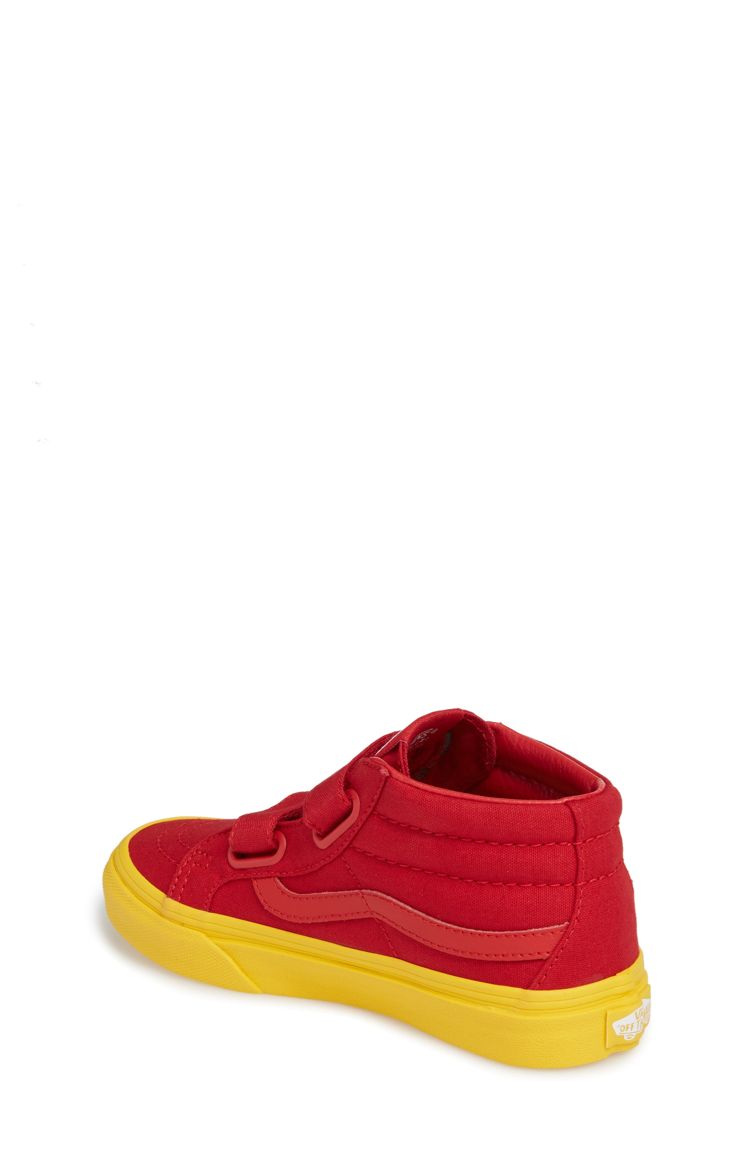 Sk8-Mid Reissue Sneaker,                             Alternate thumbnail 2, color,                             Red/ Gold Cosplay