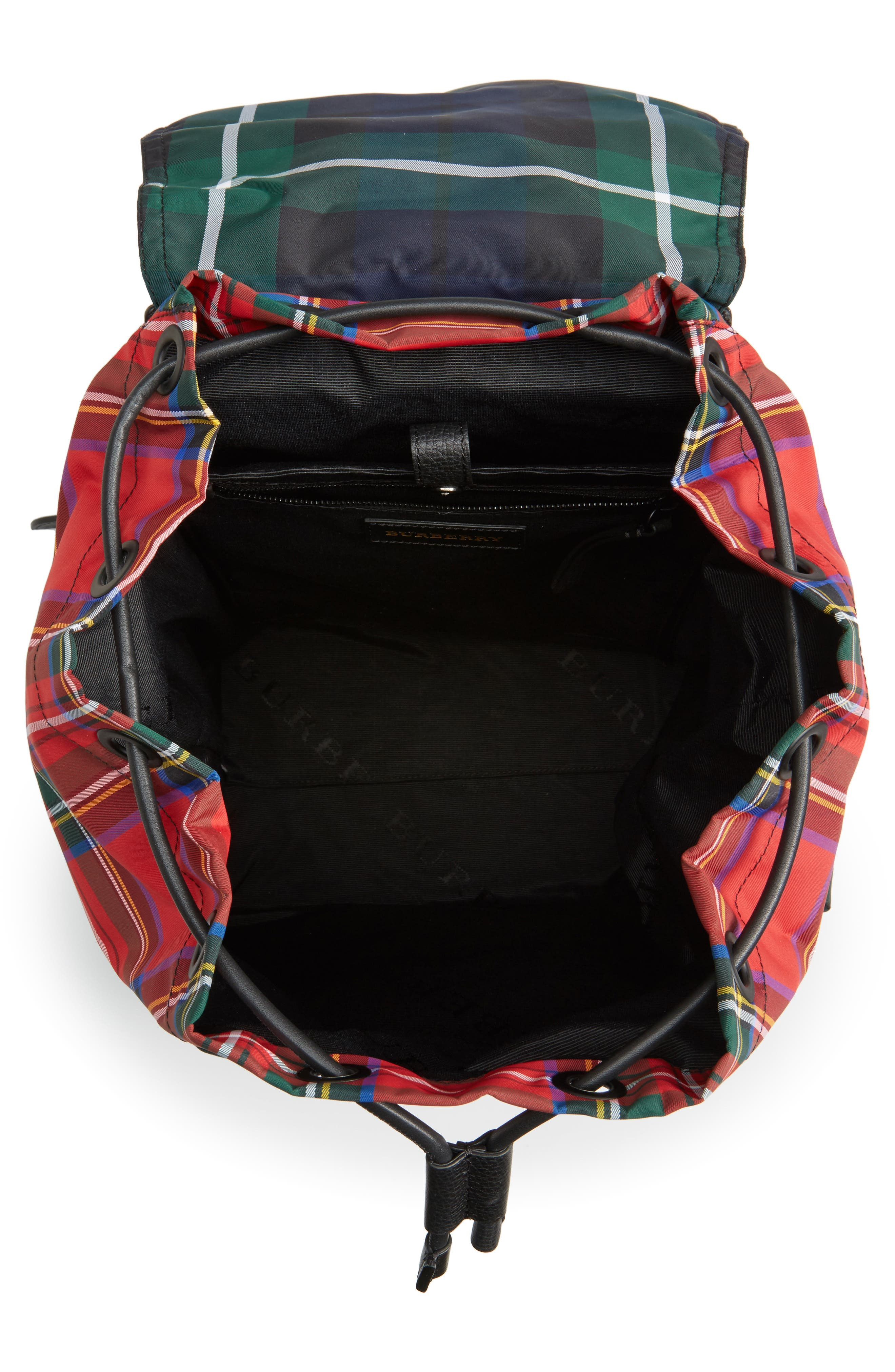 Tartan Backpack,                             Alternate thumbnail 4, color,                             Military Red