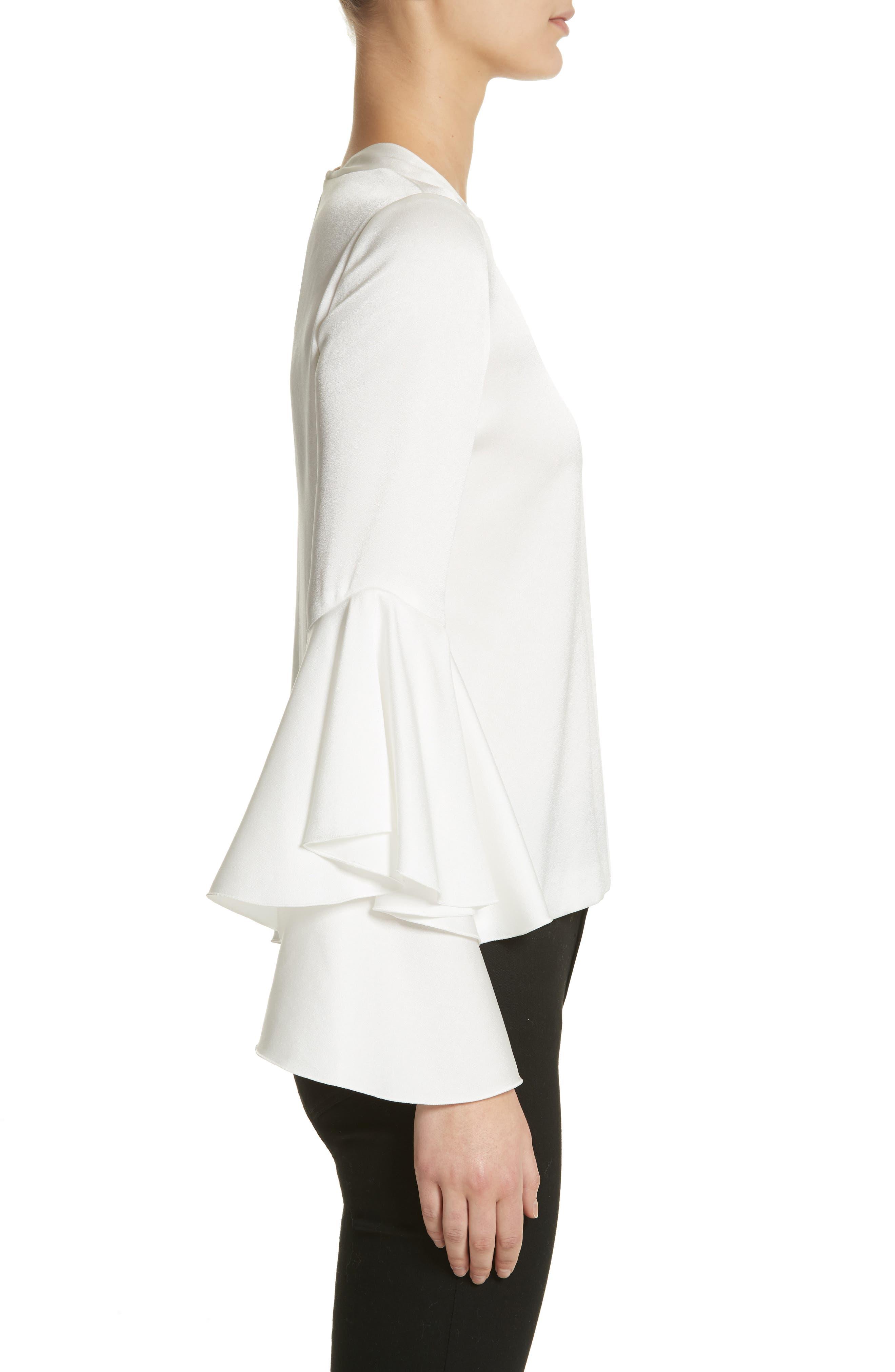 Alternate Image 3  - Galvan Ruffle Sleeve Blouse