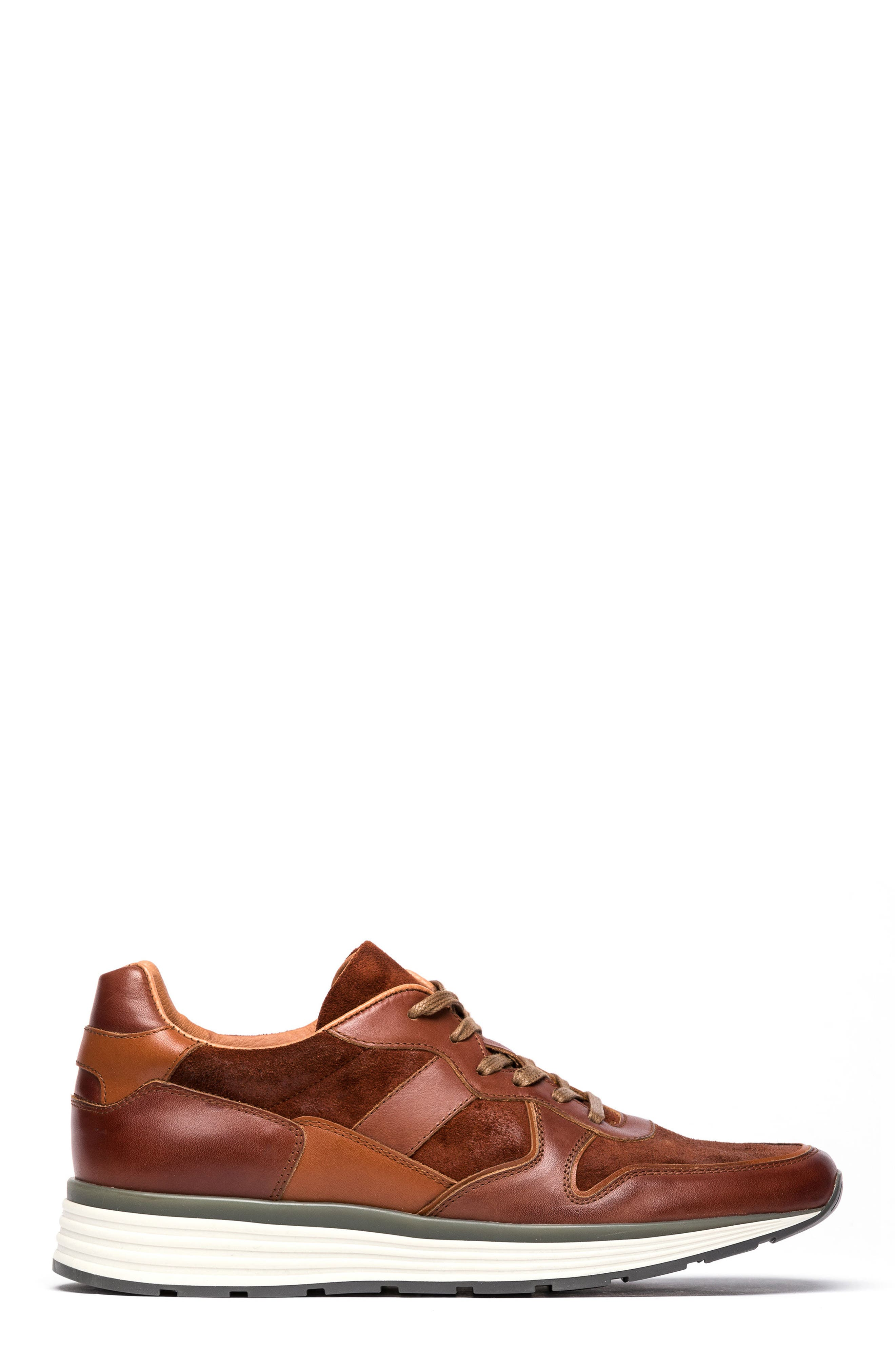 Hickory Sneaker,                             Alternate thumbnail 3, color,                             Tan Leather