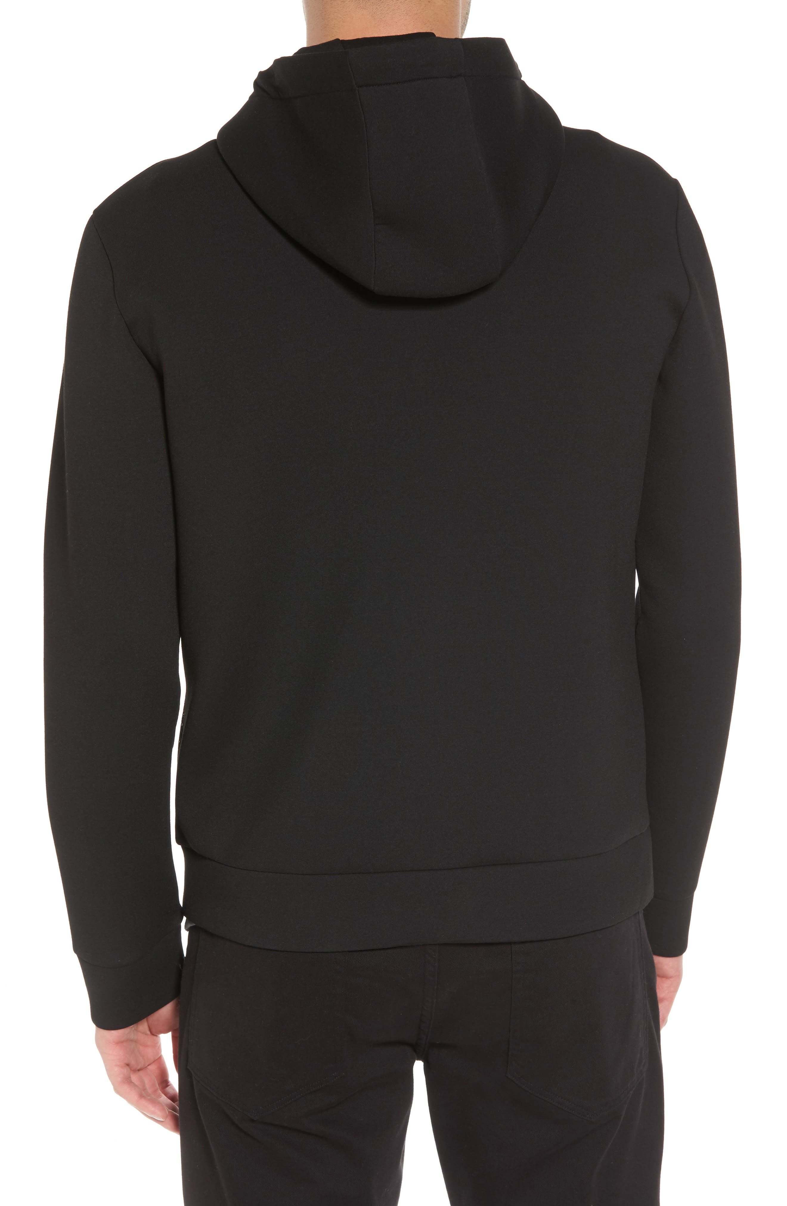 Hooded Fleece Jacket,                             Alternate thumbnail 2, color,                             Black
