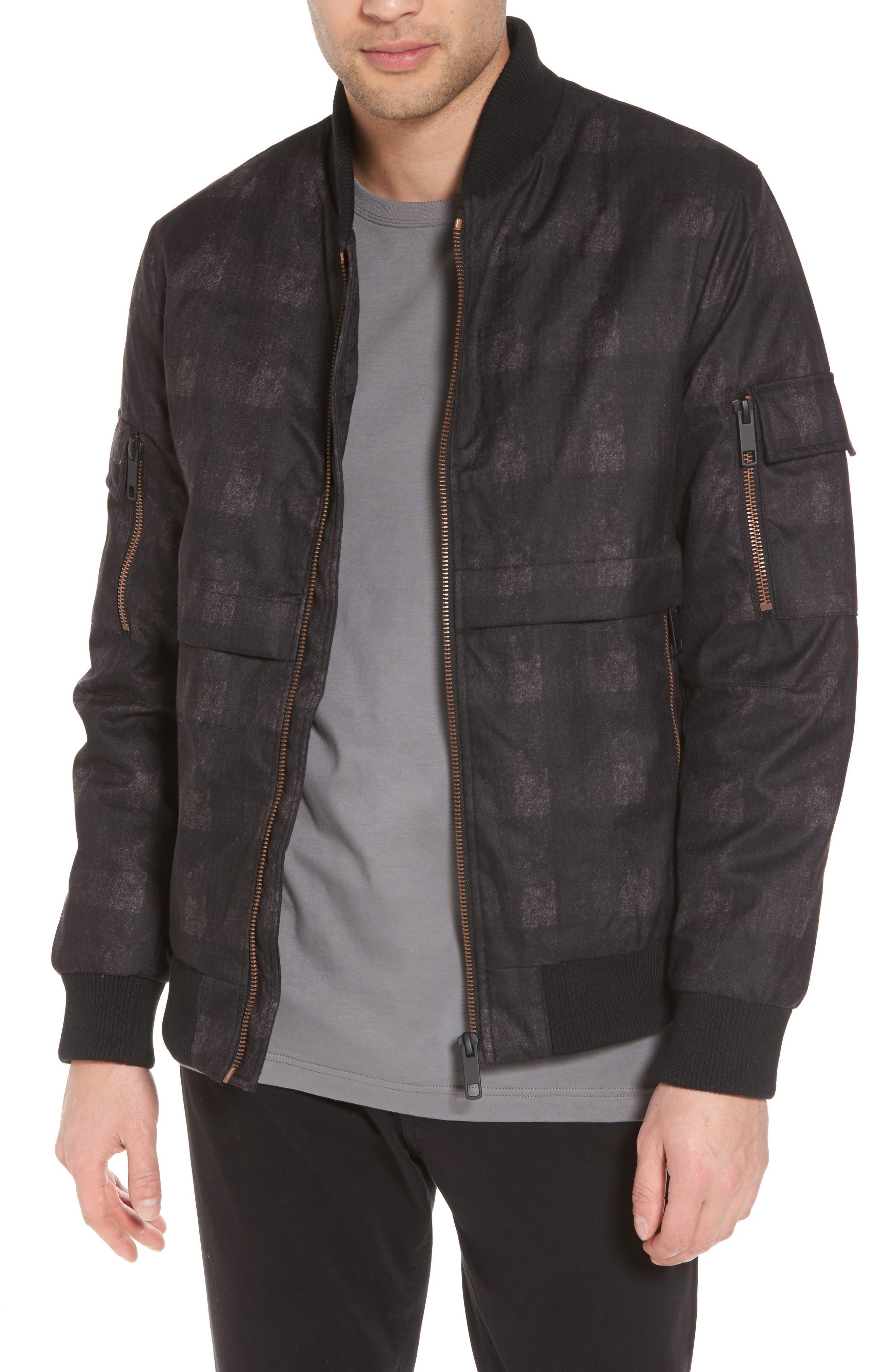 Bomber Jacket,                         Main,                         color, Black