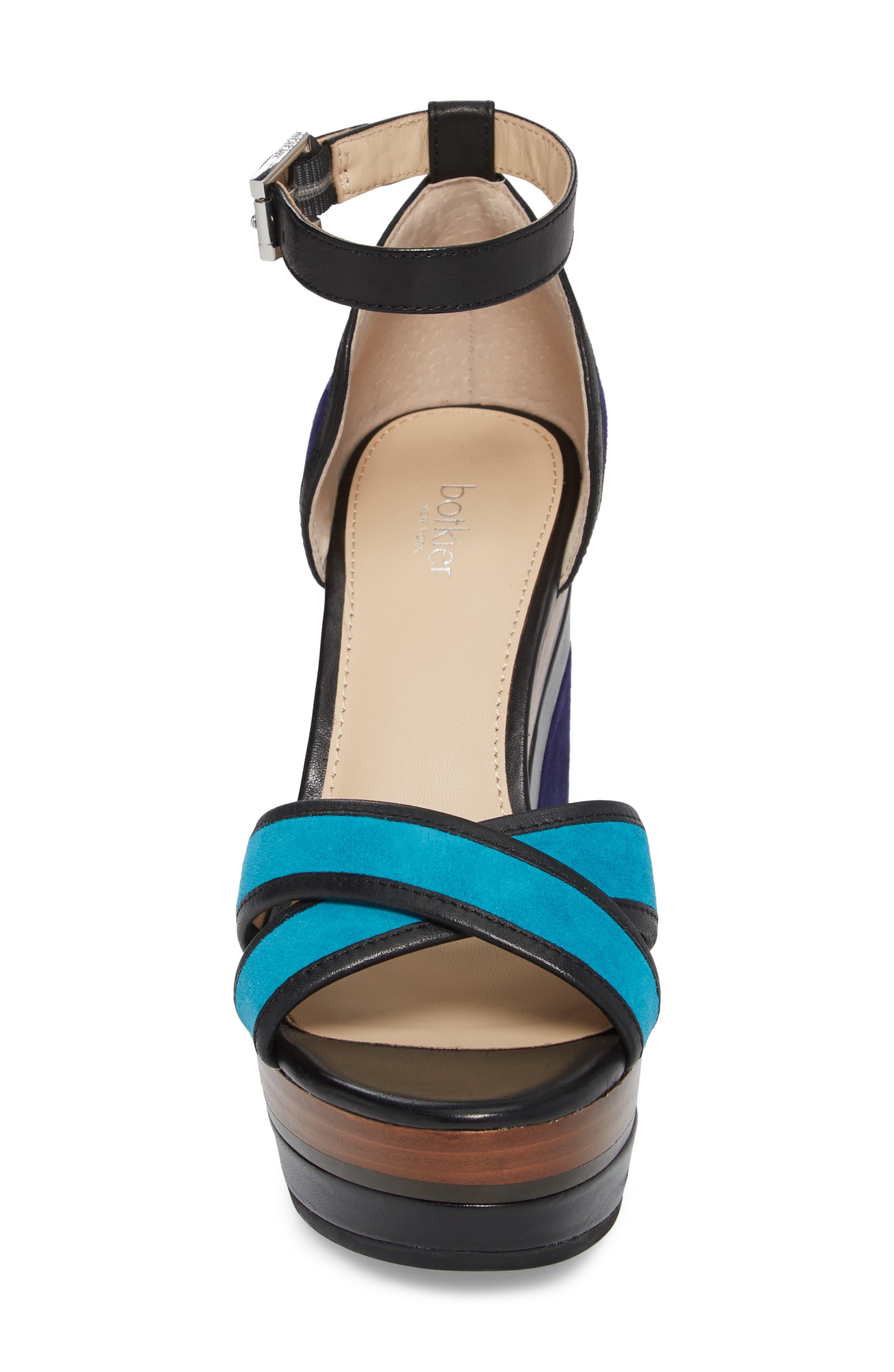 Paloma Ankle Strap Sandal,                             Alternate thumbnail 4, color,                             Ultra Marine Suede
