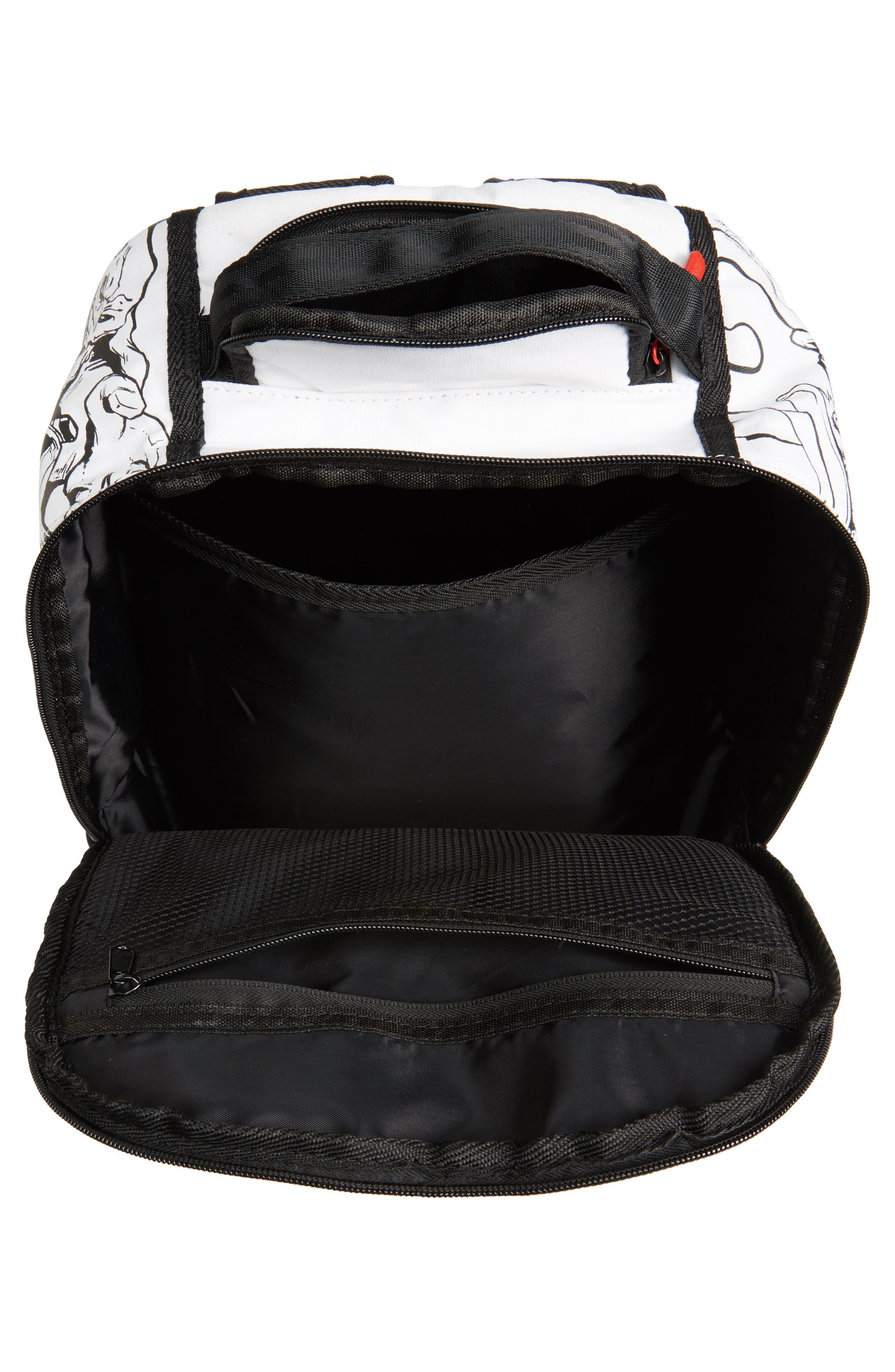 Batman DIY Villains Backpack,                             Alternate thumbnail 4, color,                             Black/ White