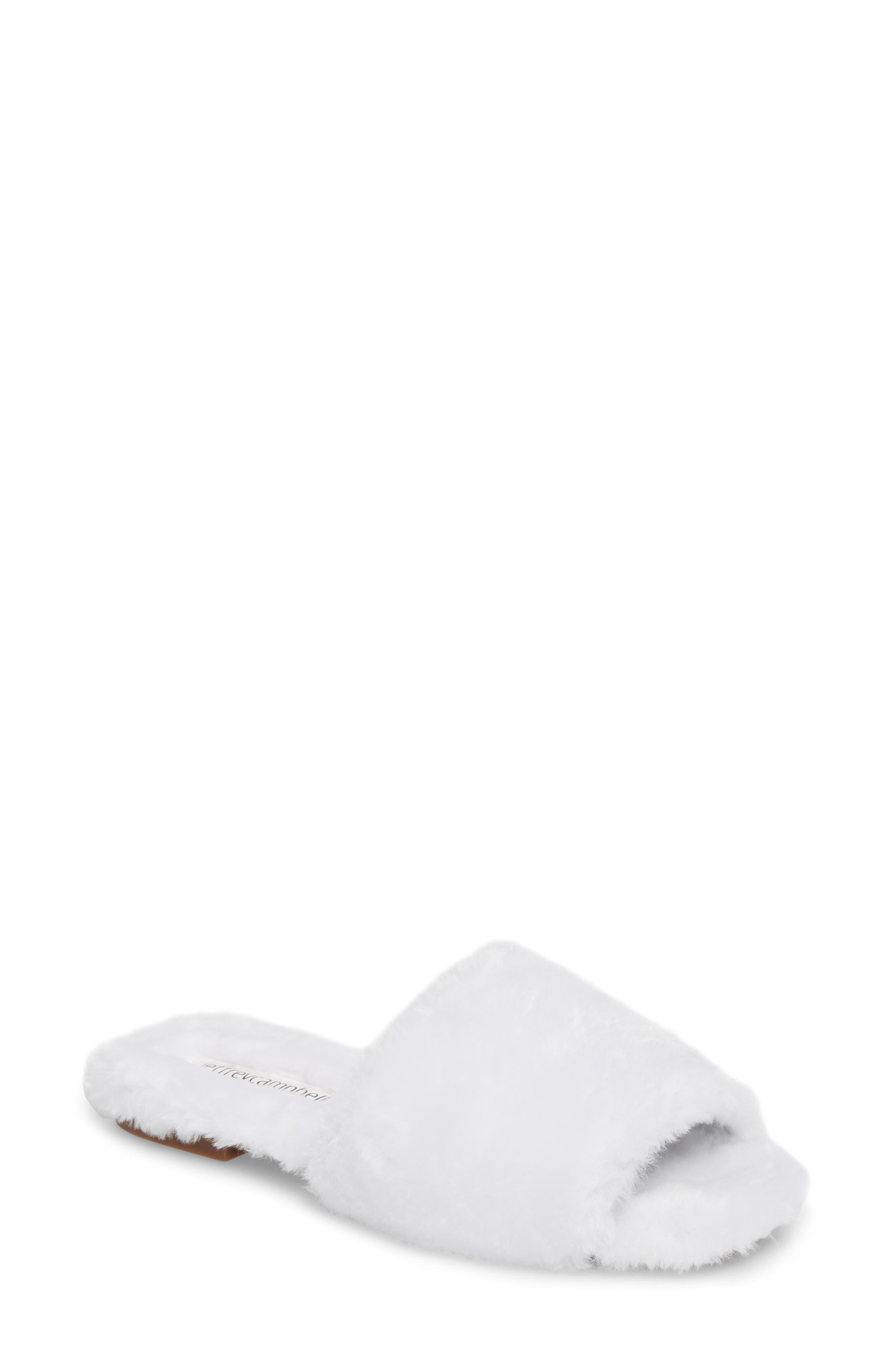 Jeffrey Campbell Motel-F Faux Fur Slide Sandal (Women)
