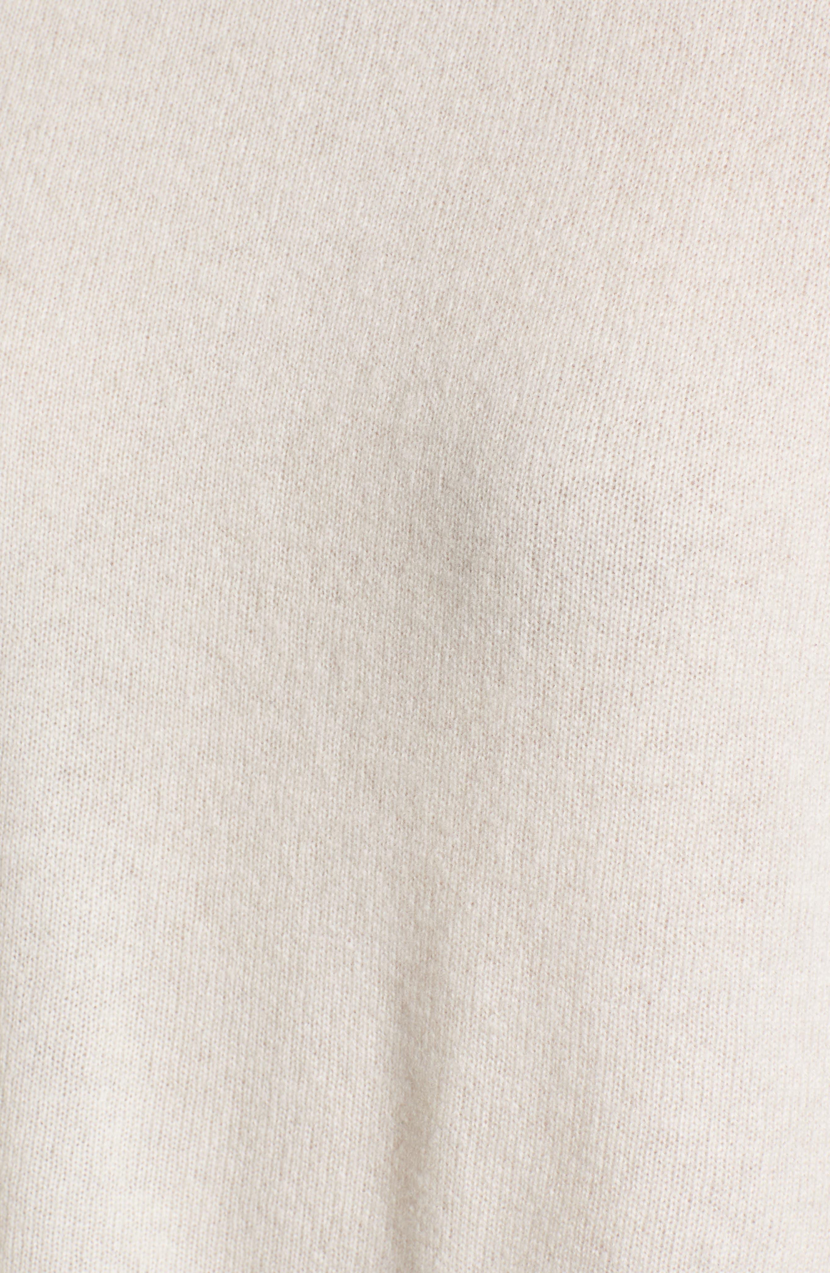 Button Detail Cashmere Sweater,                             Alternate thumbnail 5, color,                             Beige Pumice