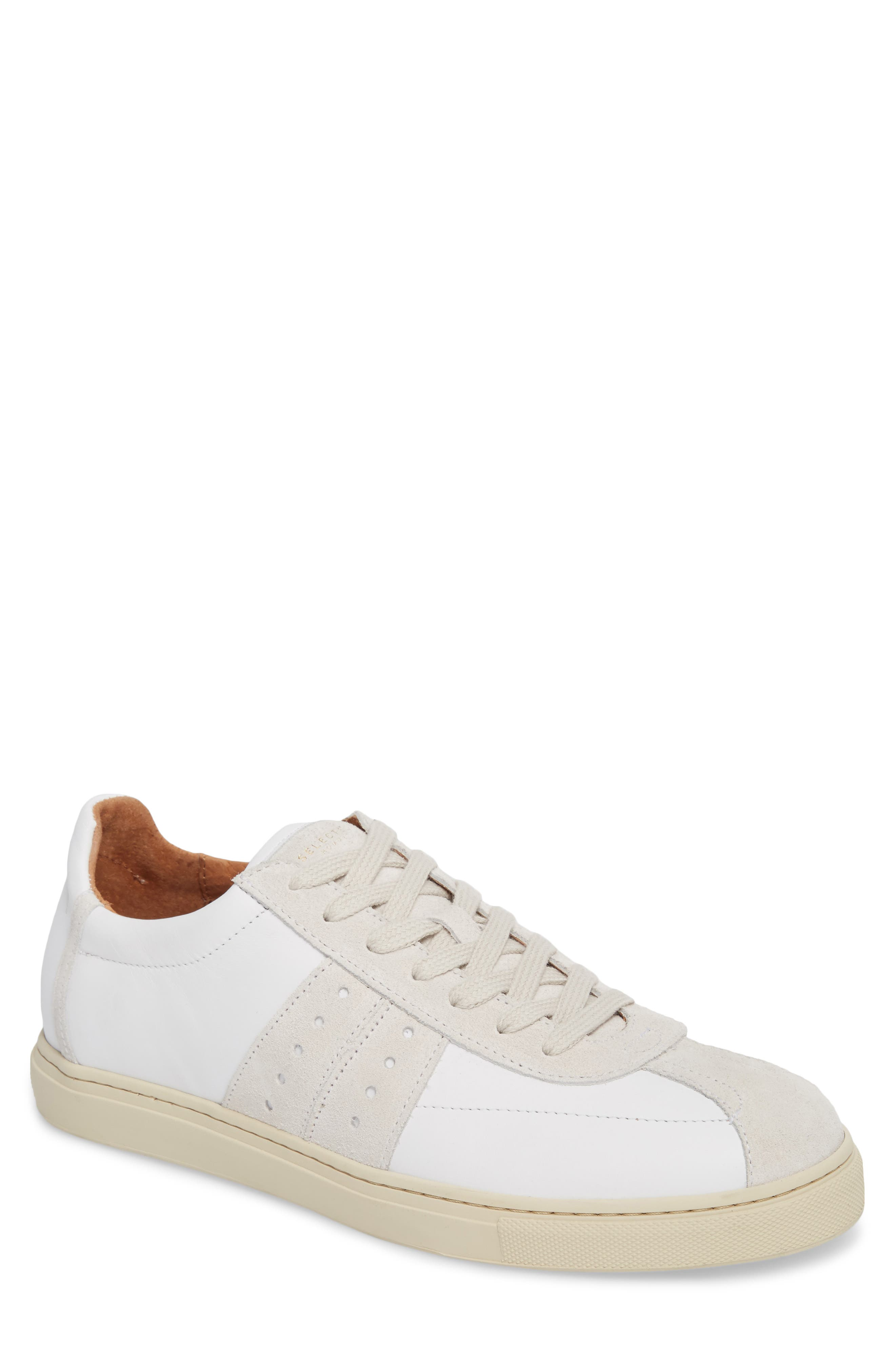 Duran New Mix Sneaker,                         Main,                         color, White Leather/ Suede