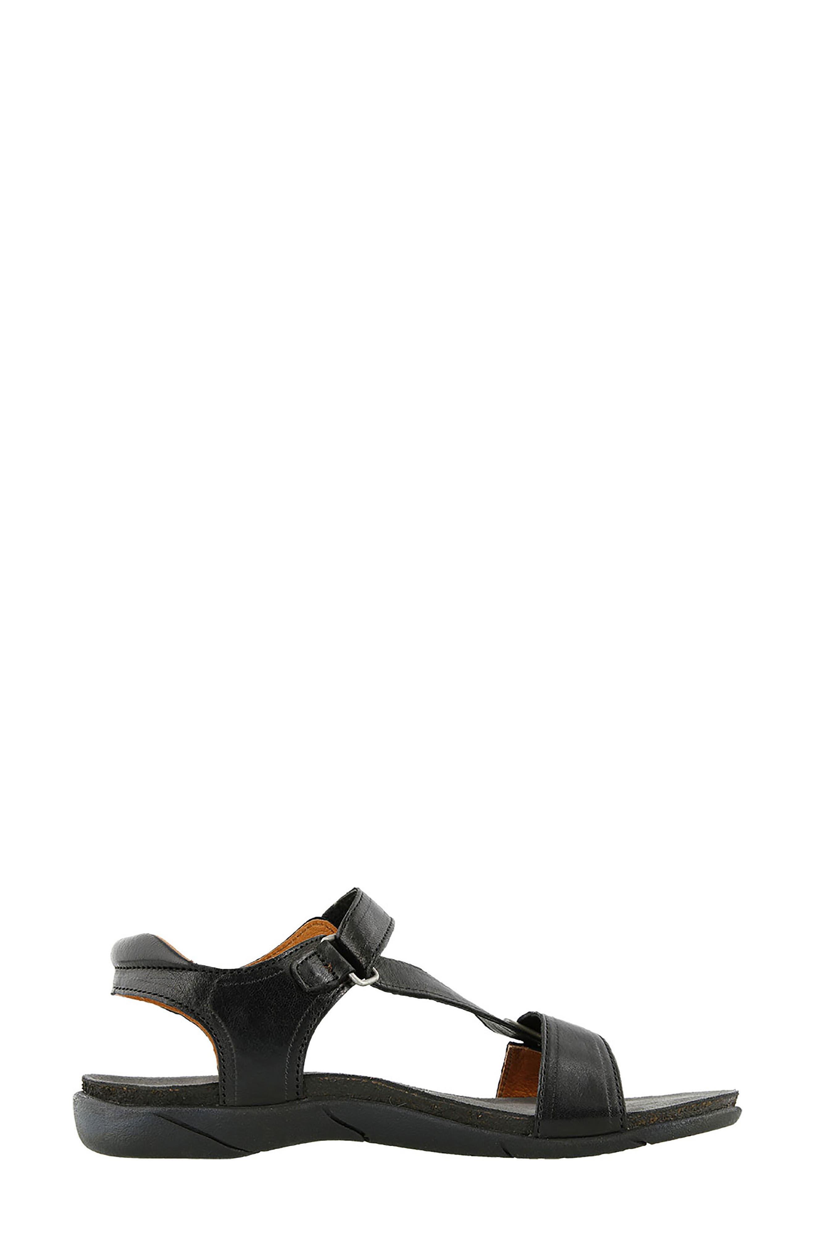 Zeal Sandal,                             Alternate thumbnail 3, color,                             Black Leather