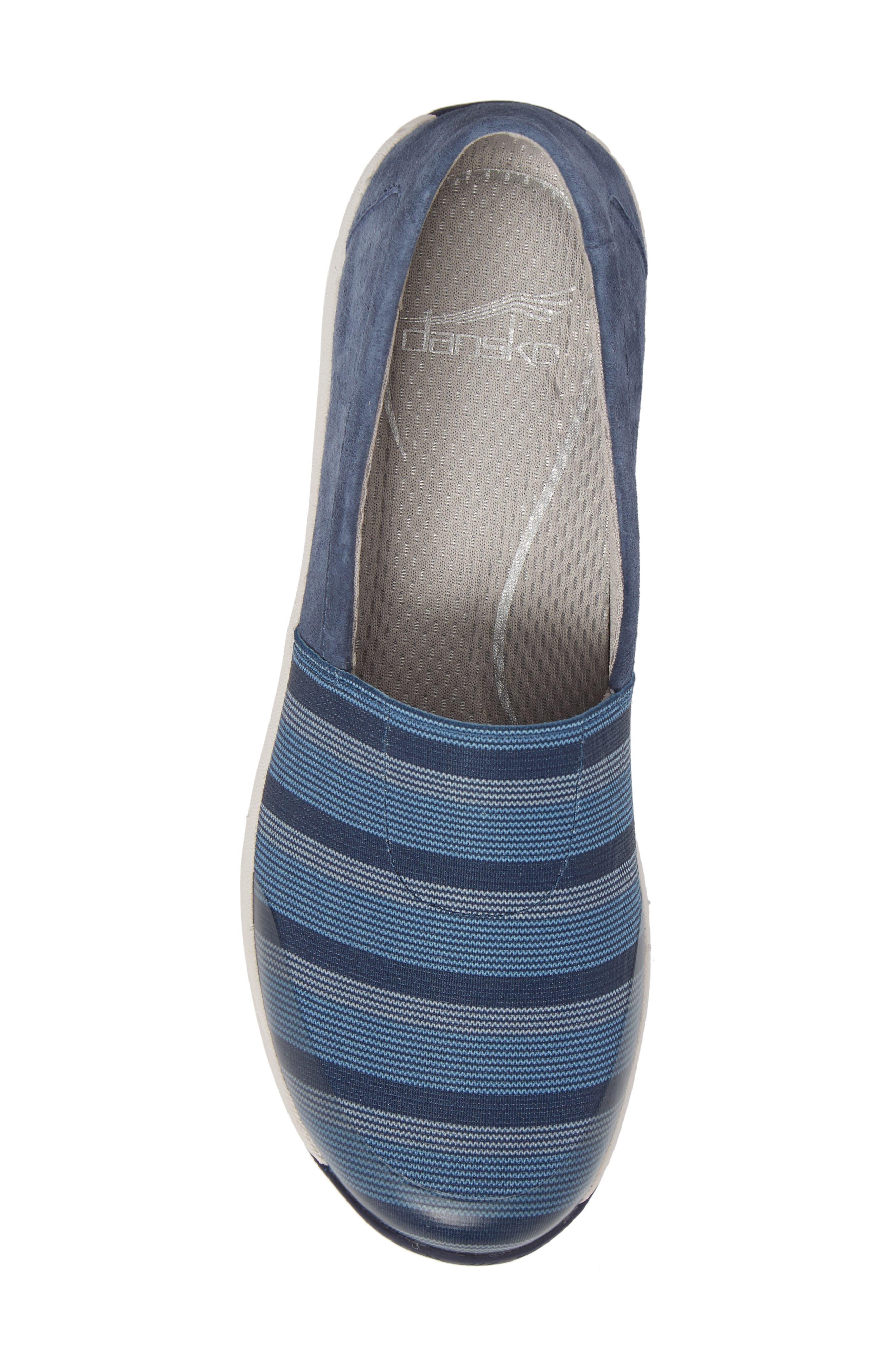 Harriet Slip-On Sneaker,                             Alternate thumbnail 5, color,                             Blue Suede