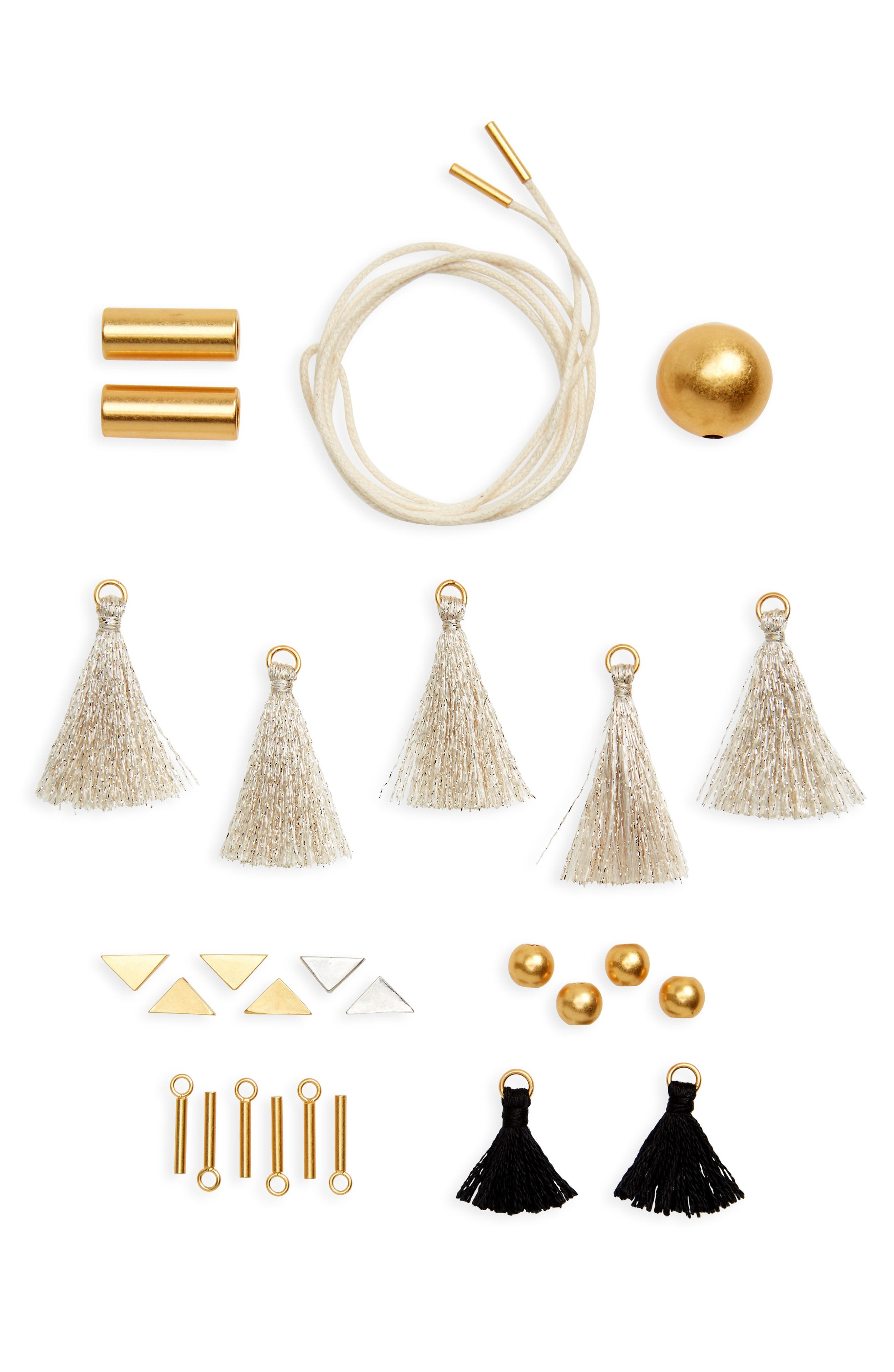 Do It Yourself Necklace Kit,                             Main thumbnail 1, color,                             Mixed Metal