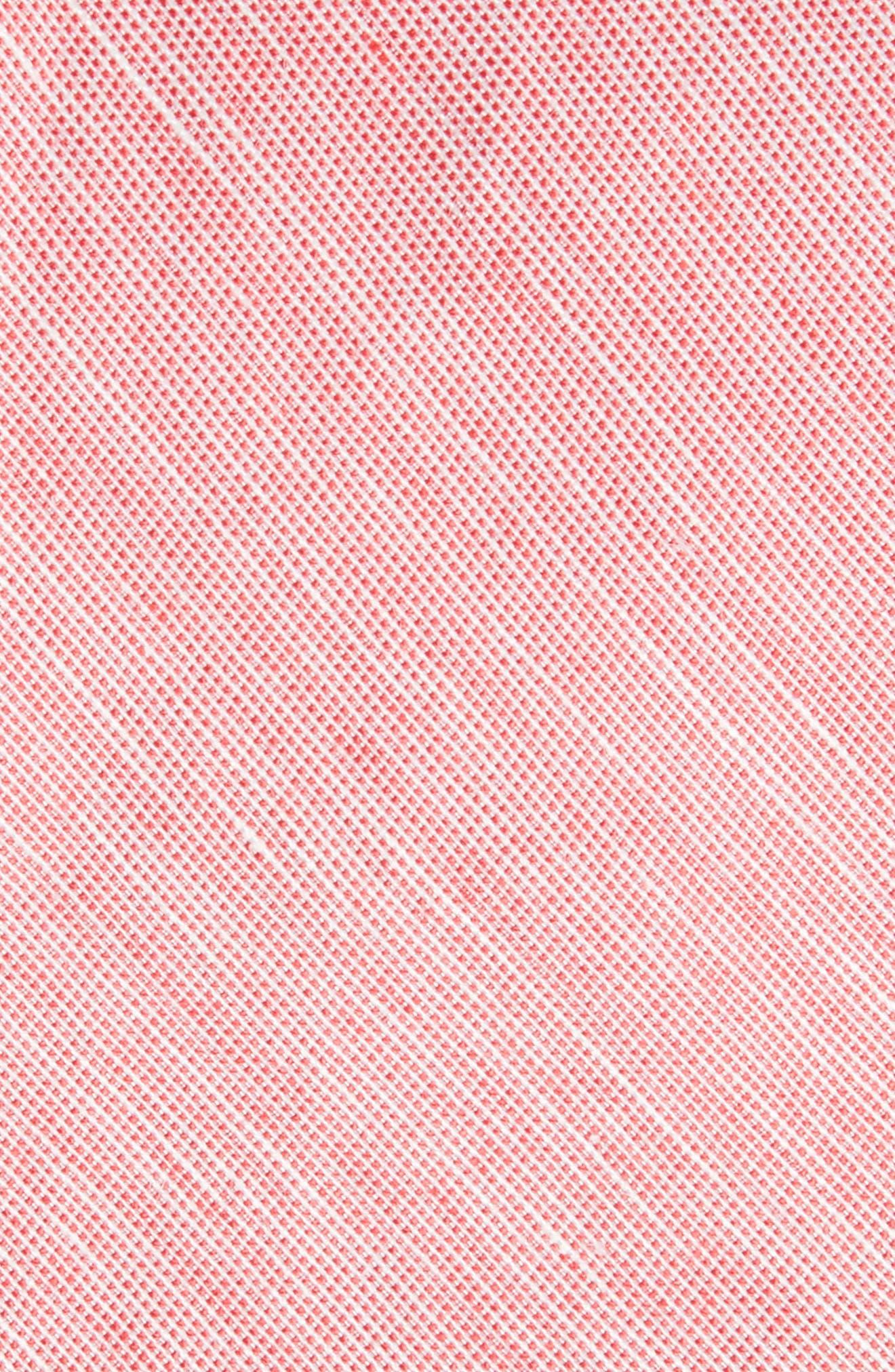 Adena Solid Silk Blend Skinny Tie,                             Alternate thumbnail 2, color,                             Red