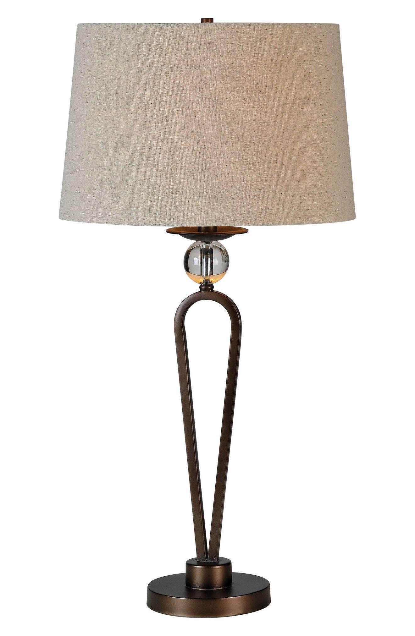 Pembroke Table Lamp,                         Main,                         color, Bronze
