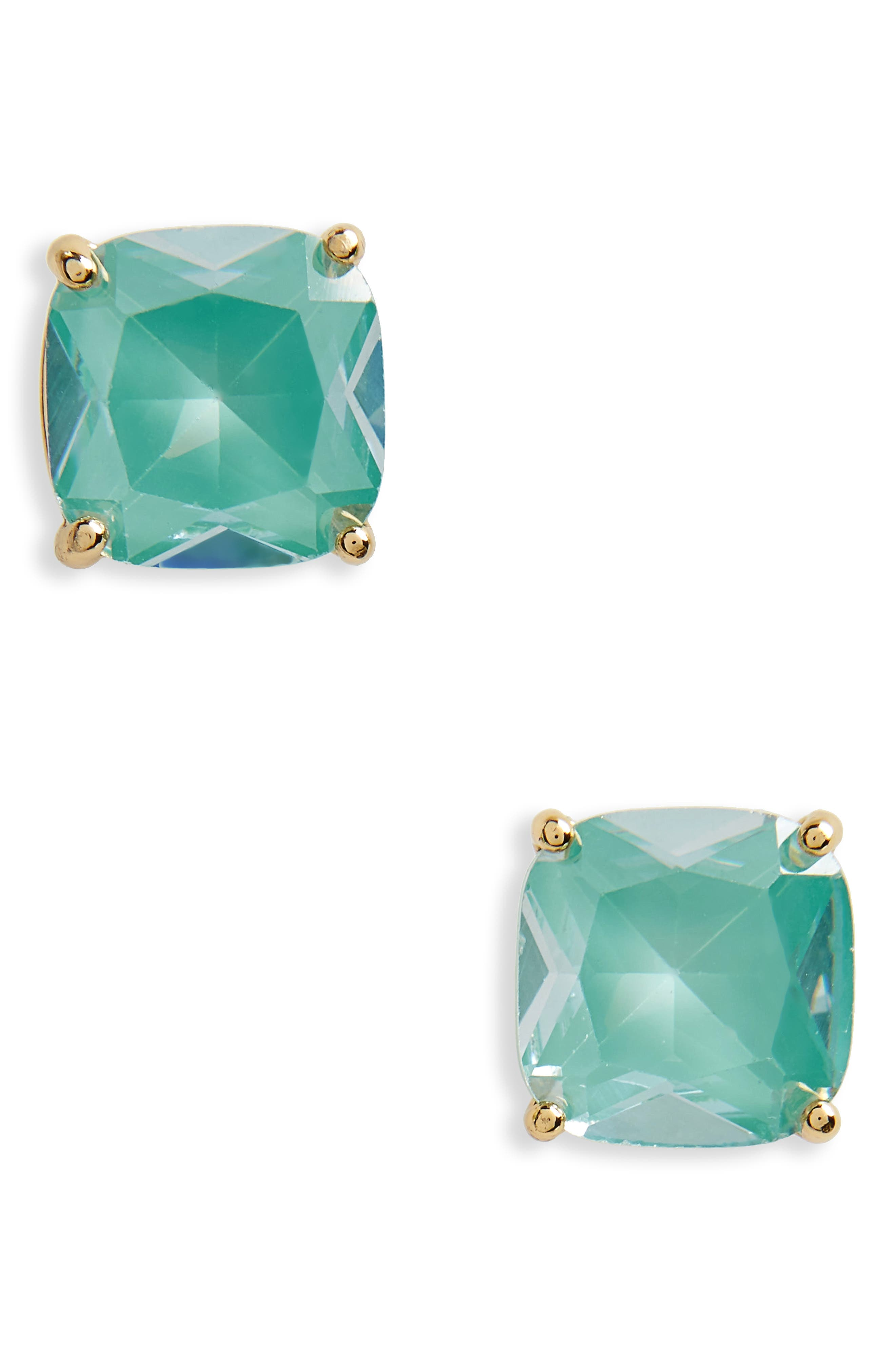 small square enamel stud earrings,                         Main,                         color, Mint