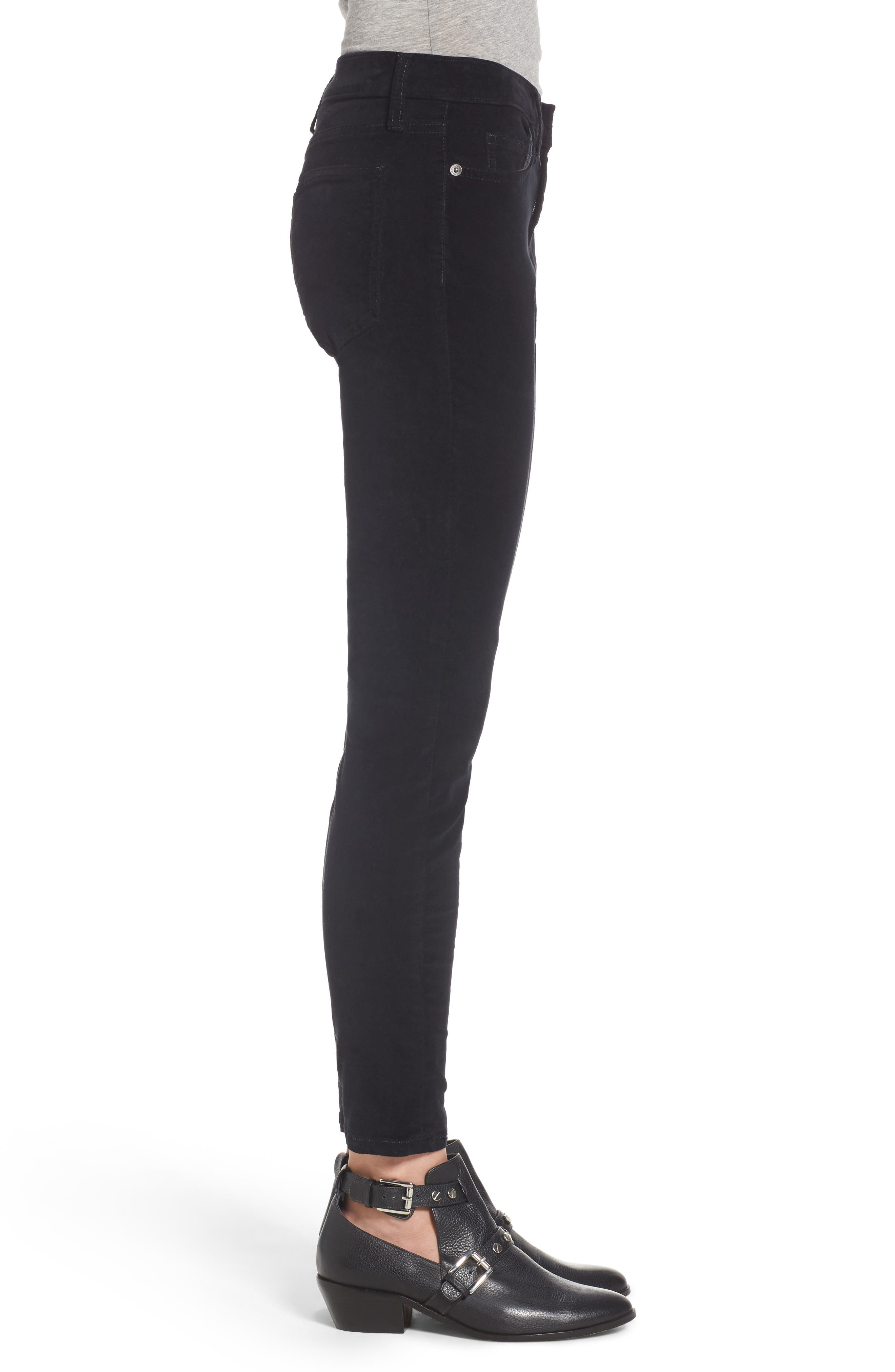 The Stiletto Ankle Skinny Pants,                             Alternate thumbnail 3, color,                             Jet Black 2