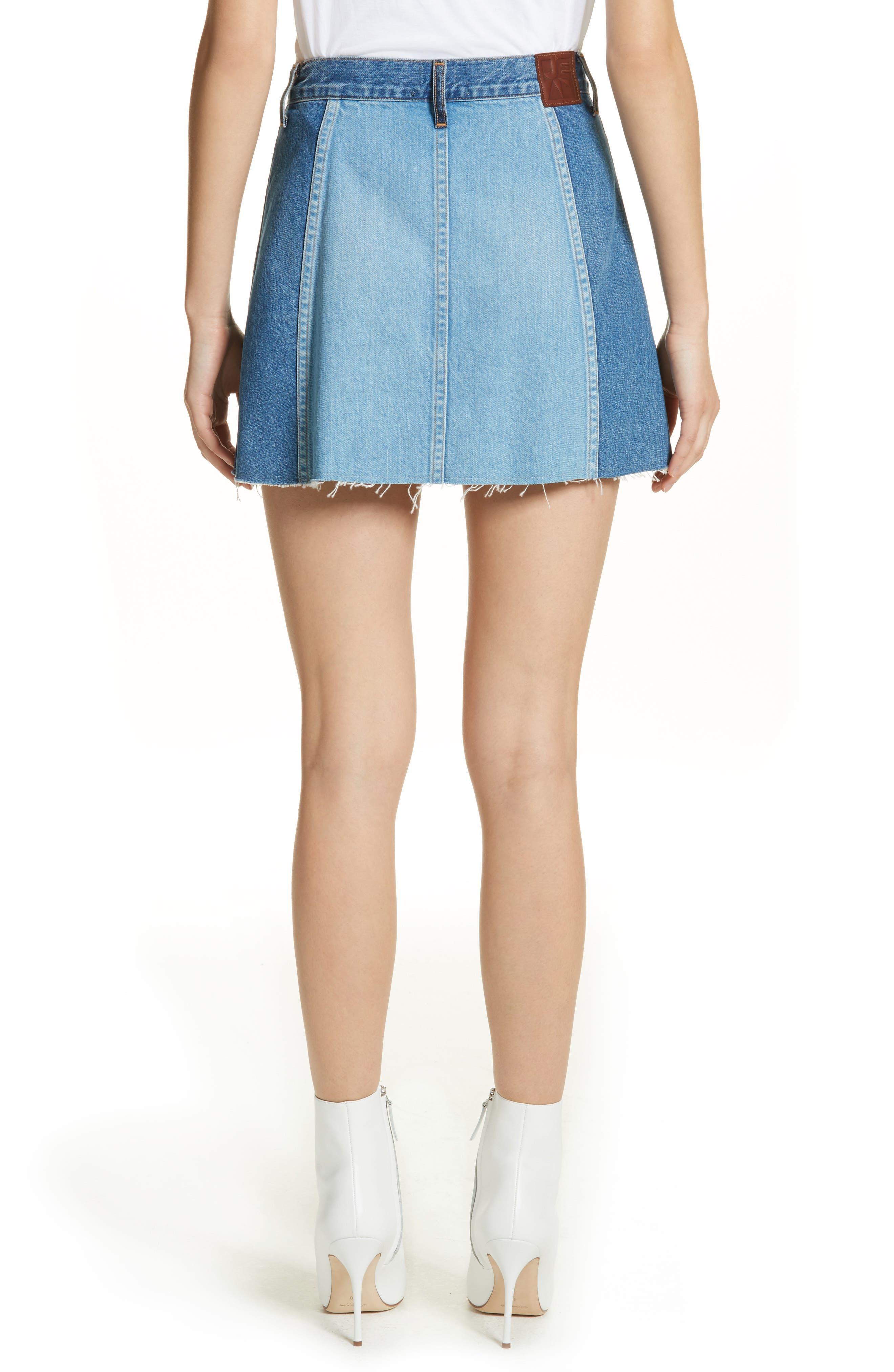 Eloise High Rise Denim Miniskirt,                             Alternate thumbnail 3, color,                             Jagger