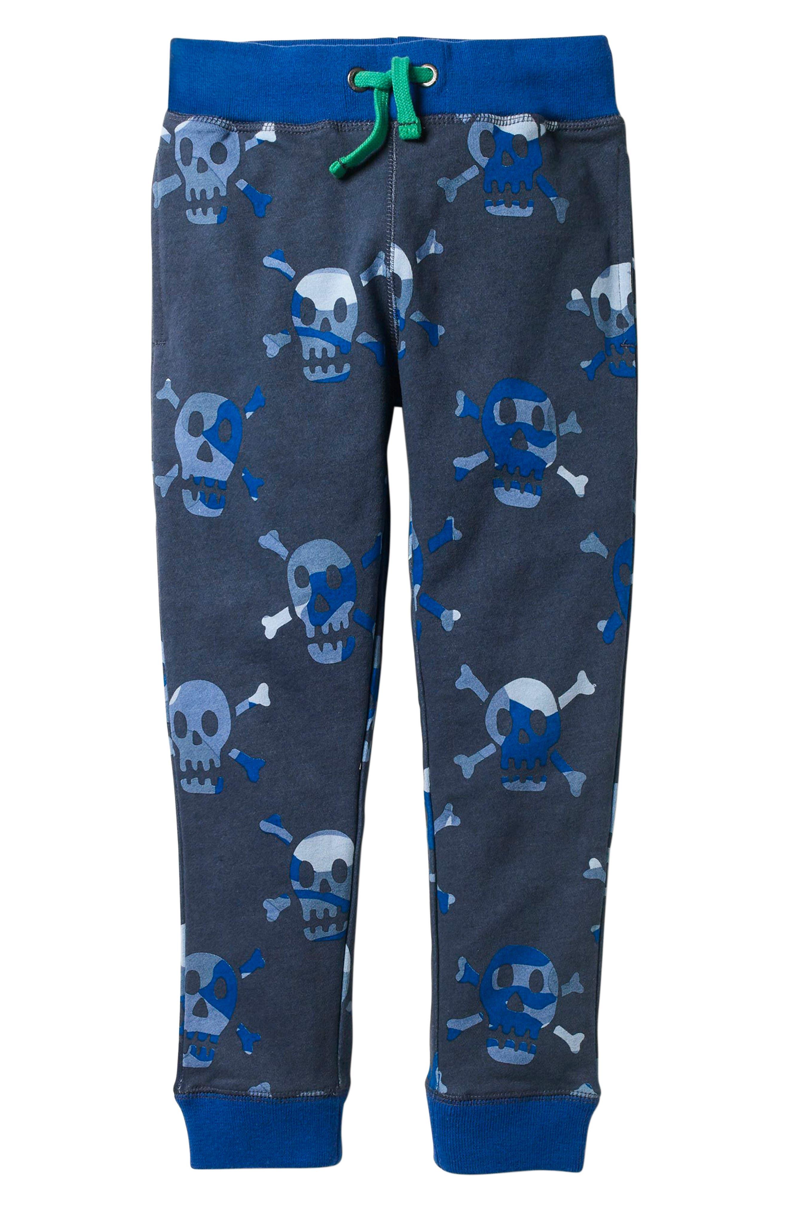 Graphic Print Sweatpants,                             Main thumbnail 1, color,                             School Navy Camo Skulls