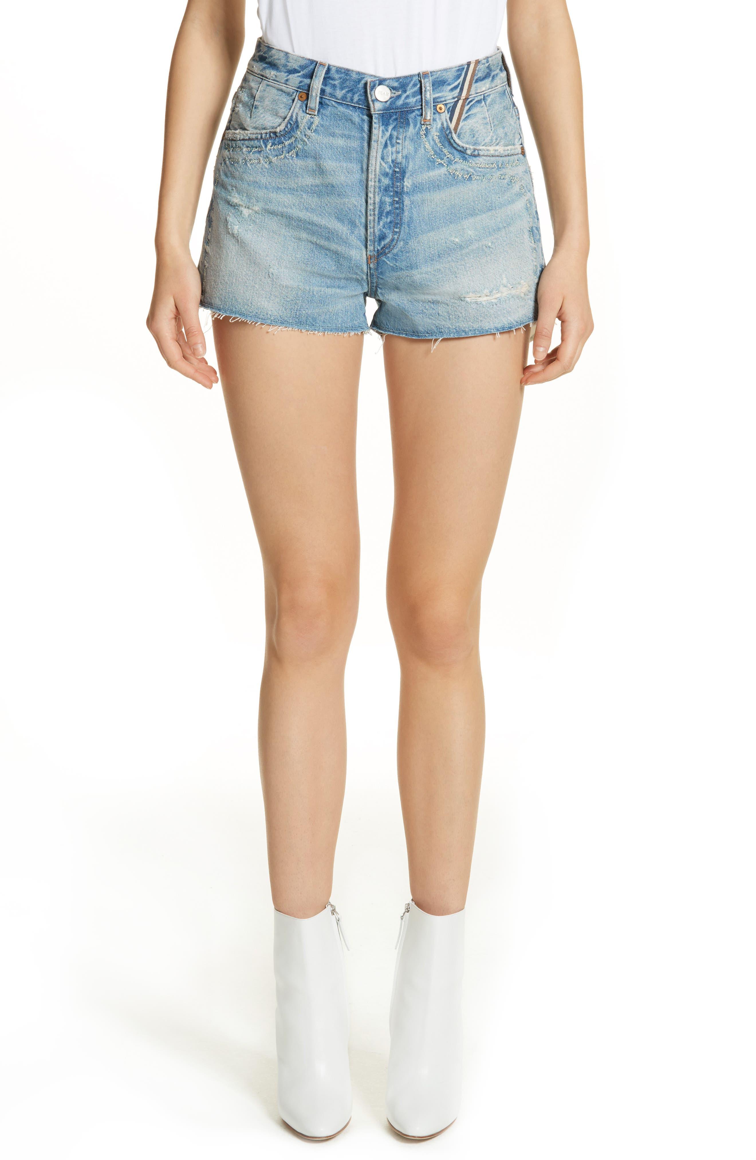 Jean Atelier Janis High Rise Mini Shorts