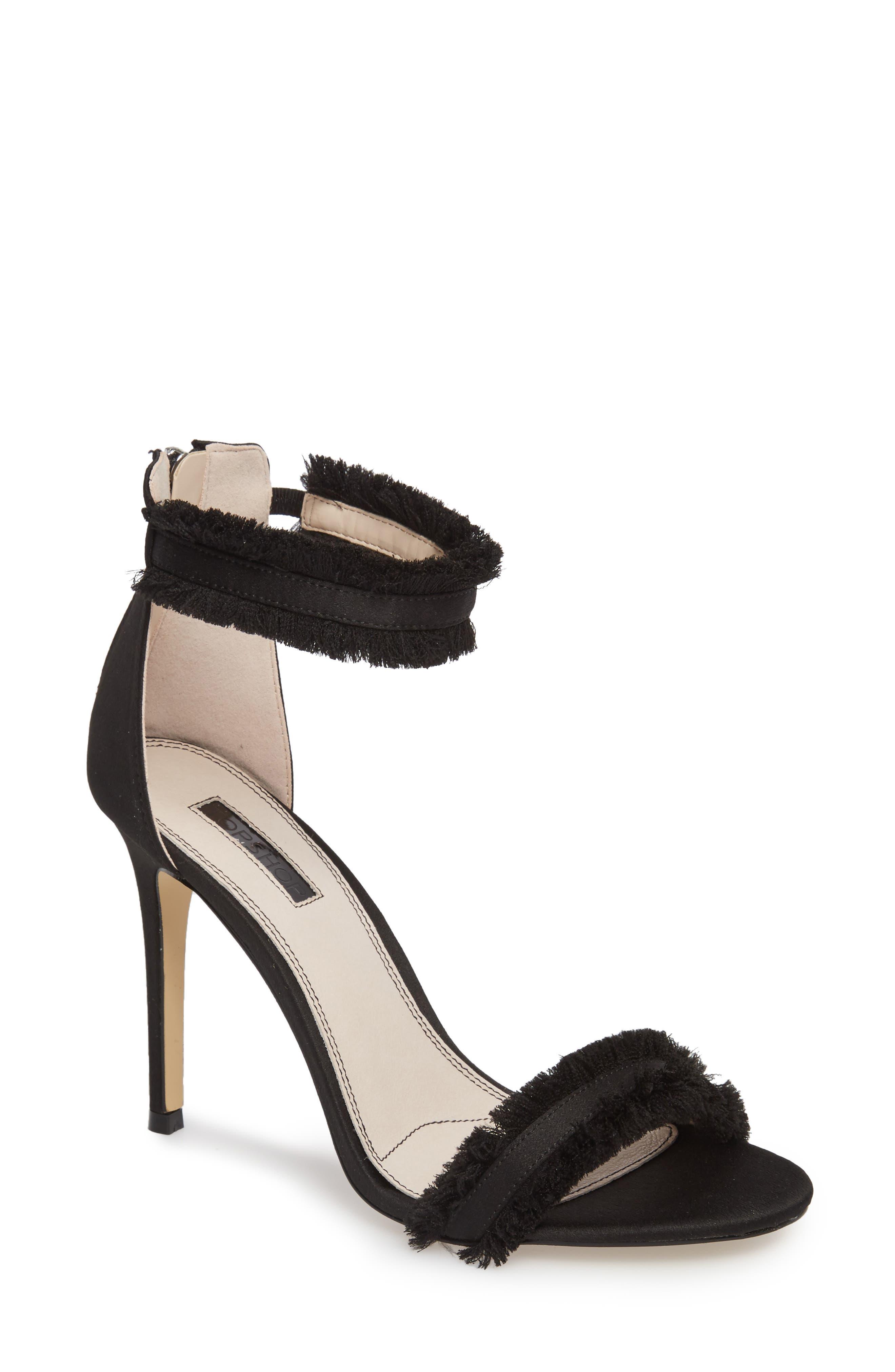 Topshop Riley Fringe Sandal (Women)