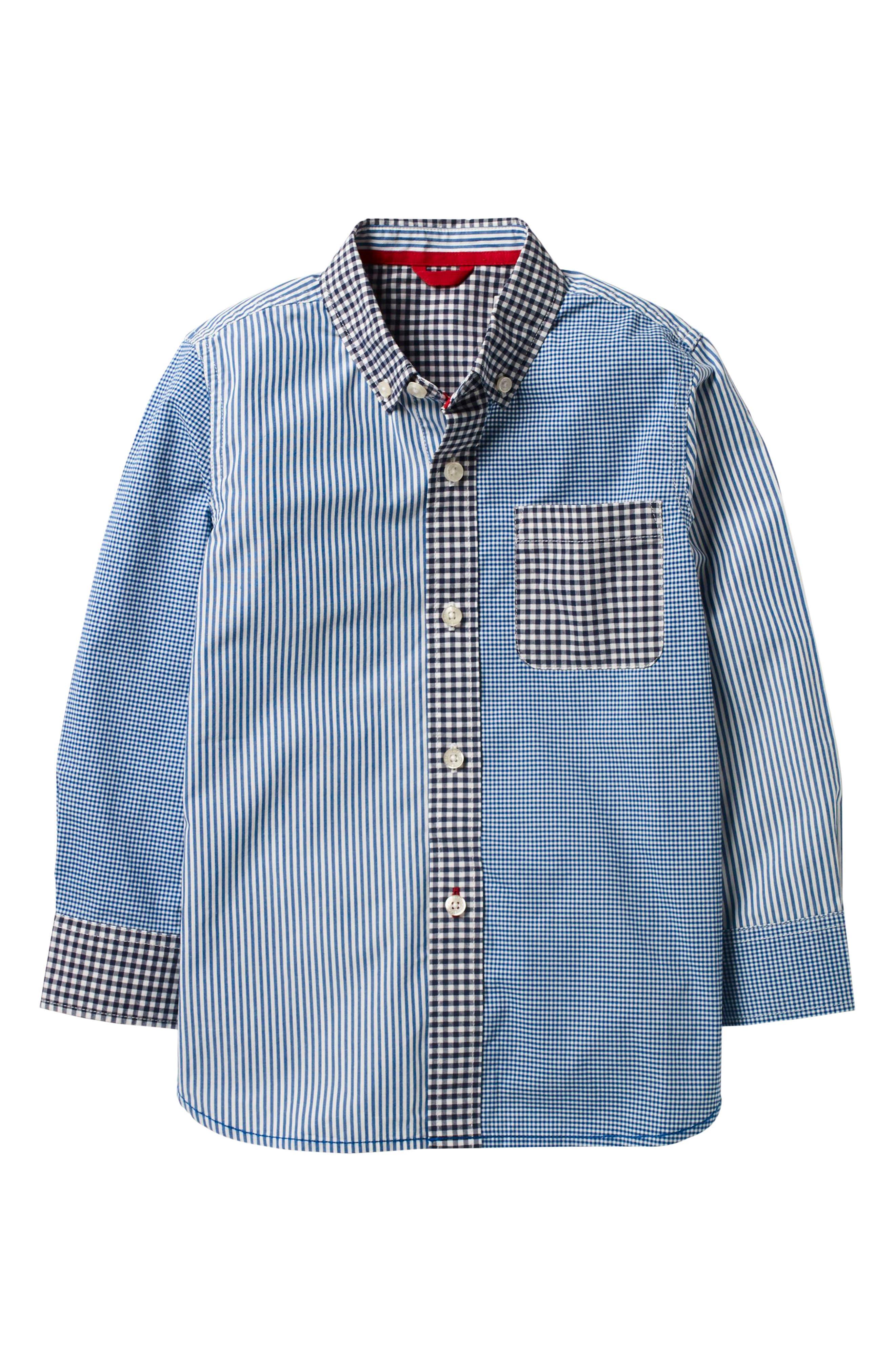 Mini Boden Hotchpotch Laundered Shirt (Toddler Boys, Little Boys & Big Boys)