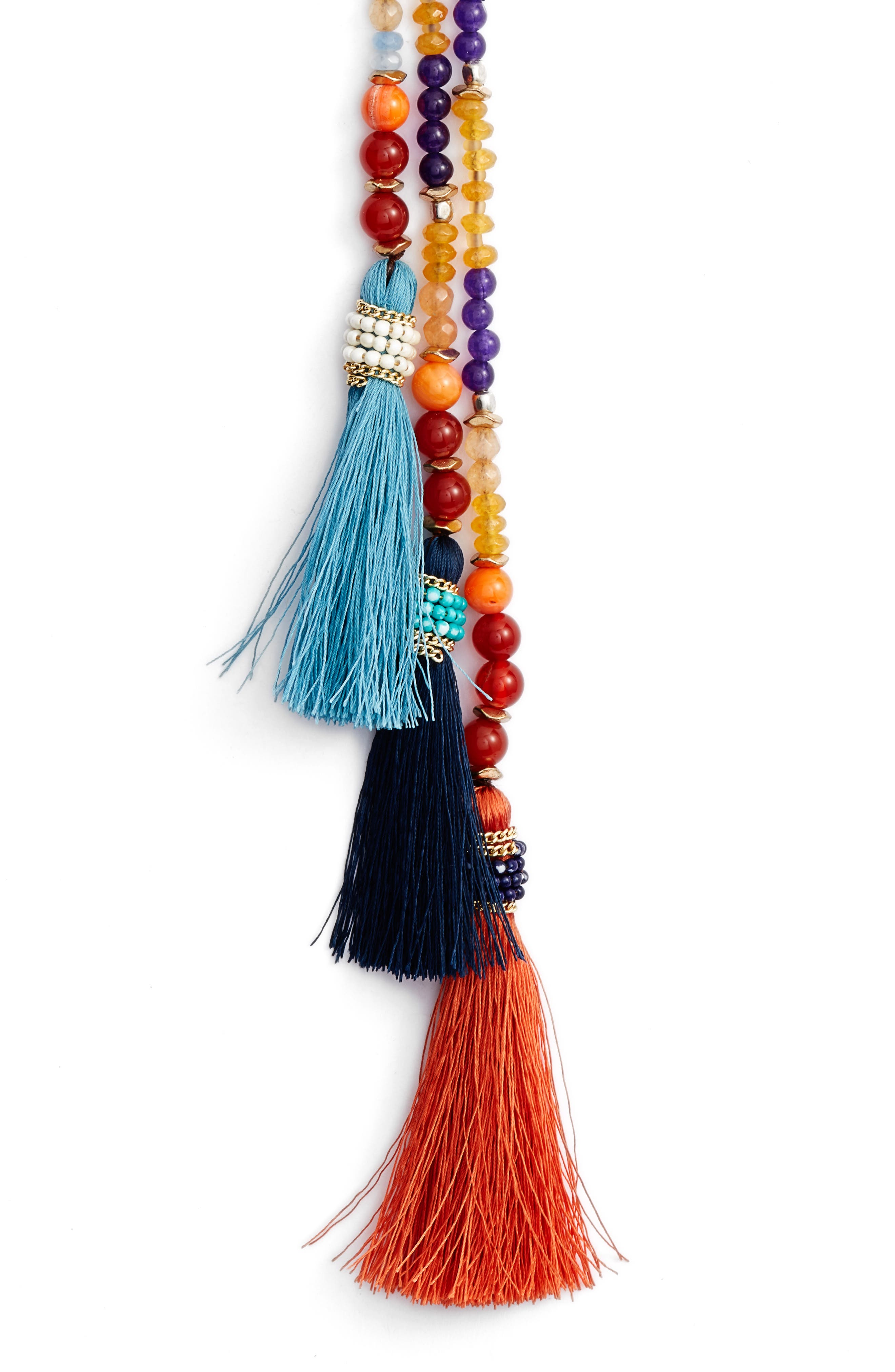 Tassel Y-Necklace,                             Alternate thumbnail 2, color,                             Multi