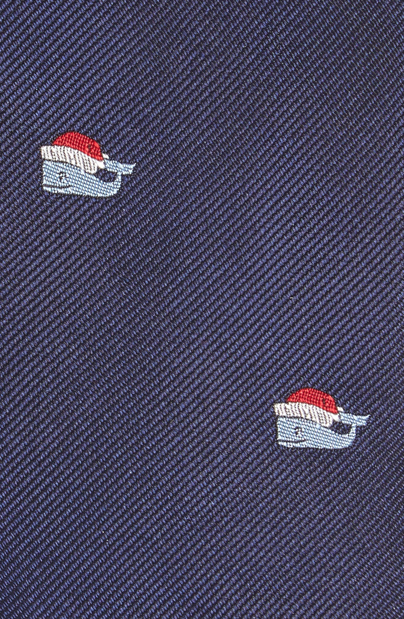 Santa Whale Silk Tie,                             Alternate thumbnail 2, color,                             Vineyard Navy