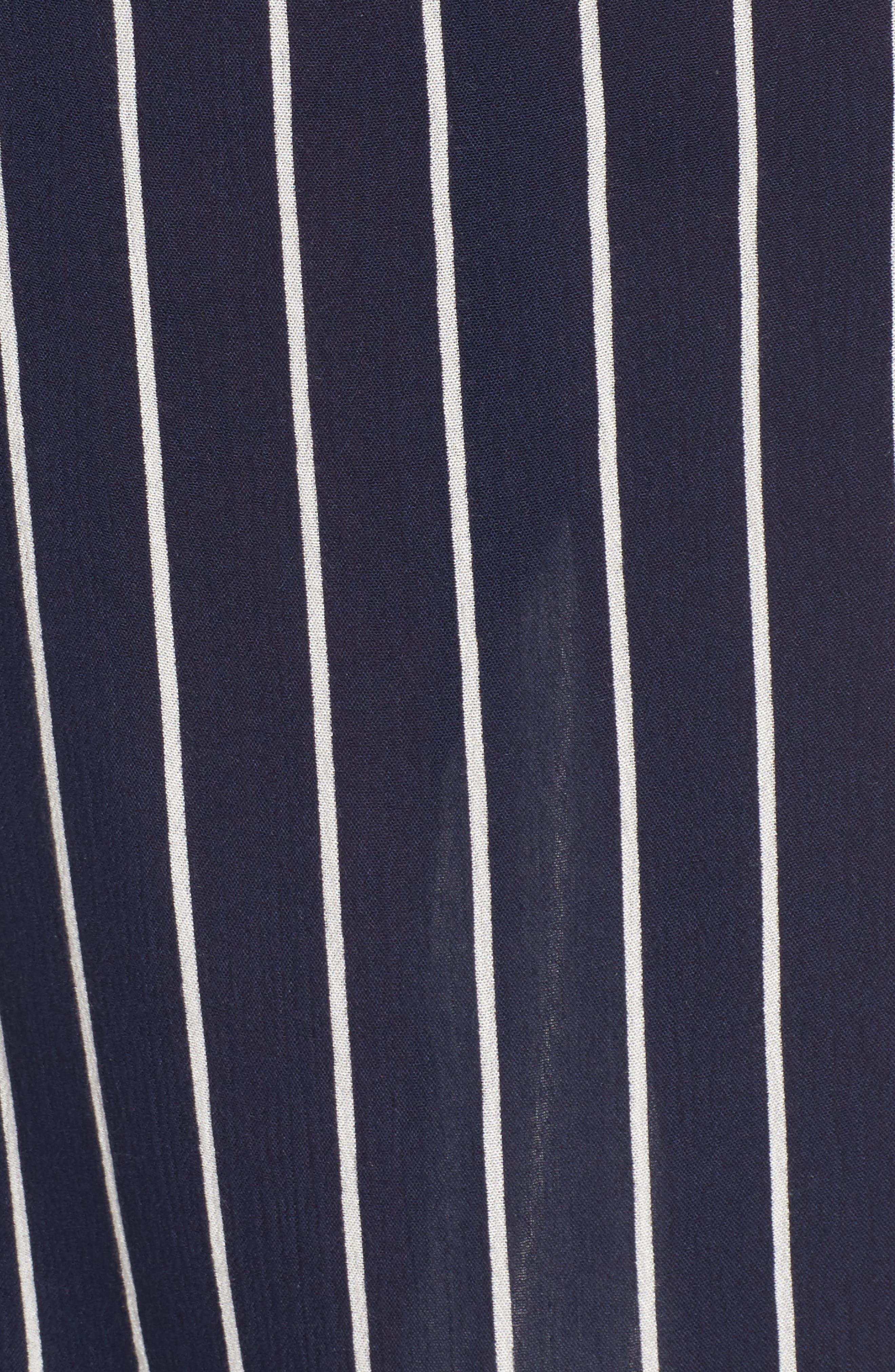 So Right Stripe Faux Wrap Skirt,                             Alternate thumbnail 6, color,                             Deep Sea
