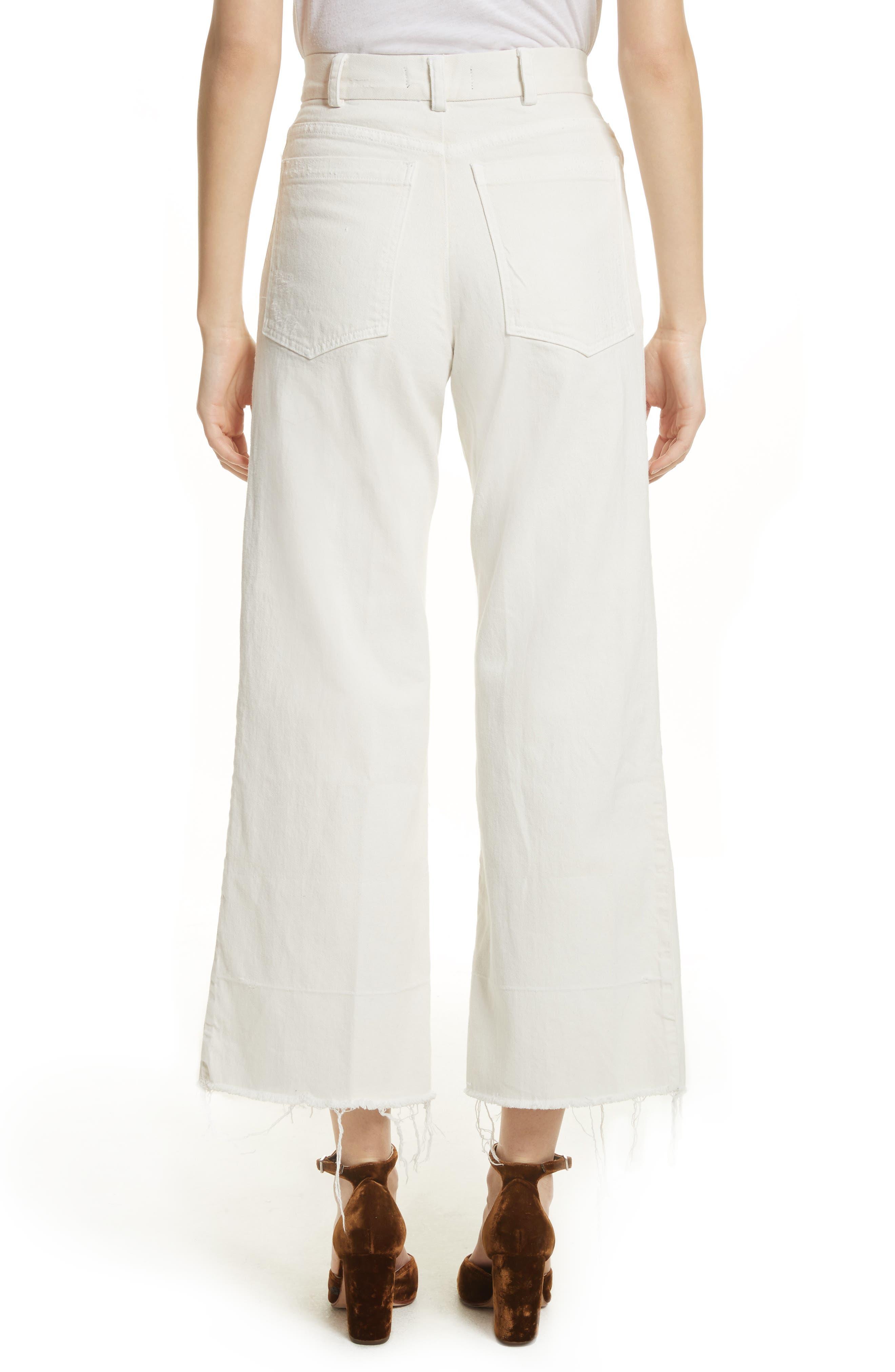 Rachey Comey Legion Crop Wide Leg Pants,                             Alternate thumbnail 2, color,                             Dirty White