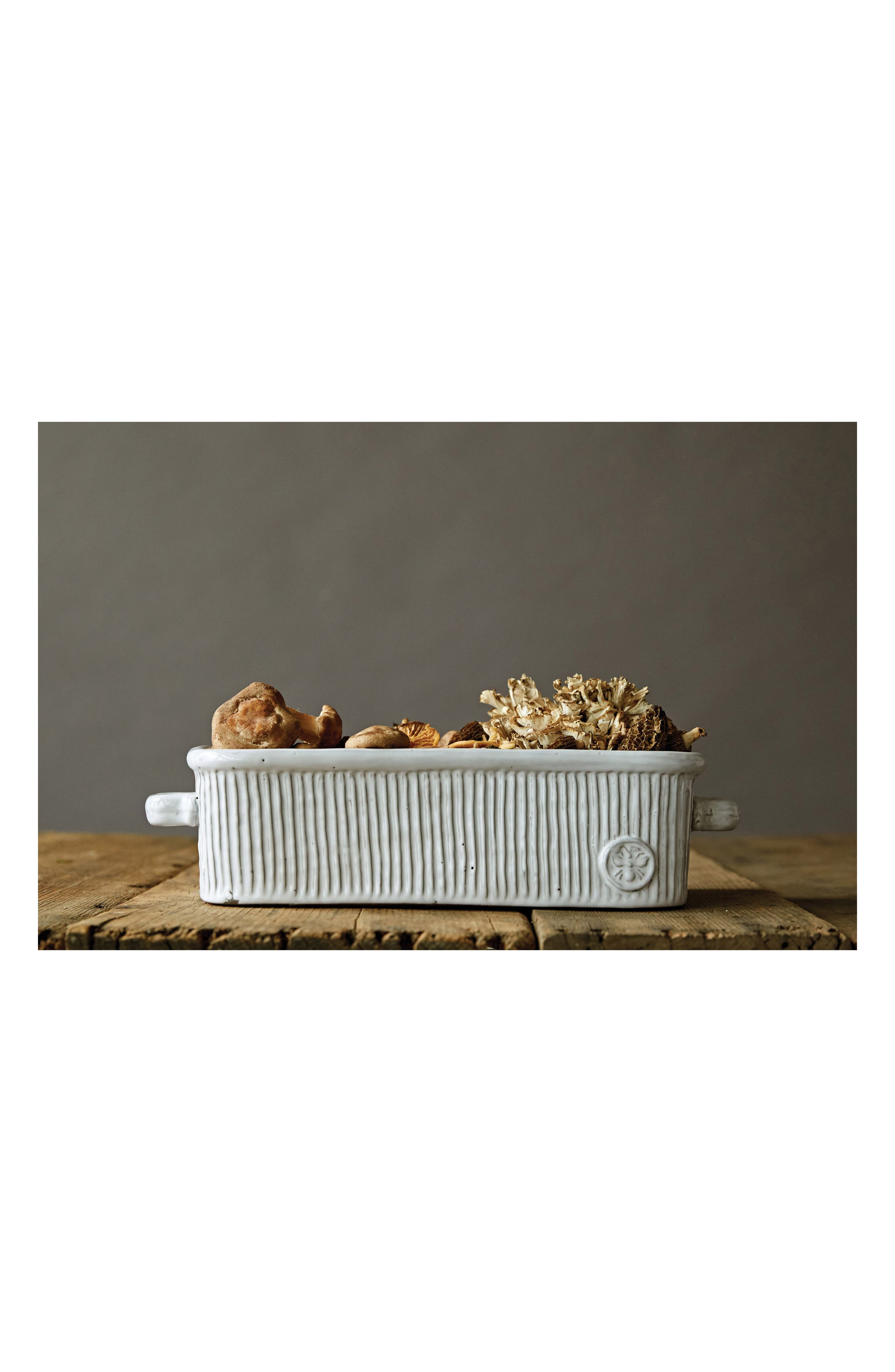 Ceramic Loaf Pan,                             Alternate thumbnail 2, color,                             White