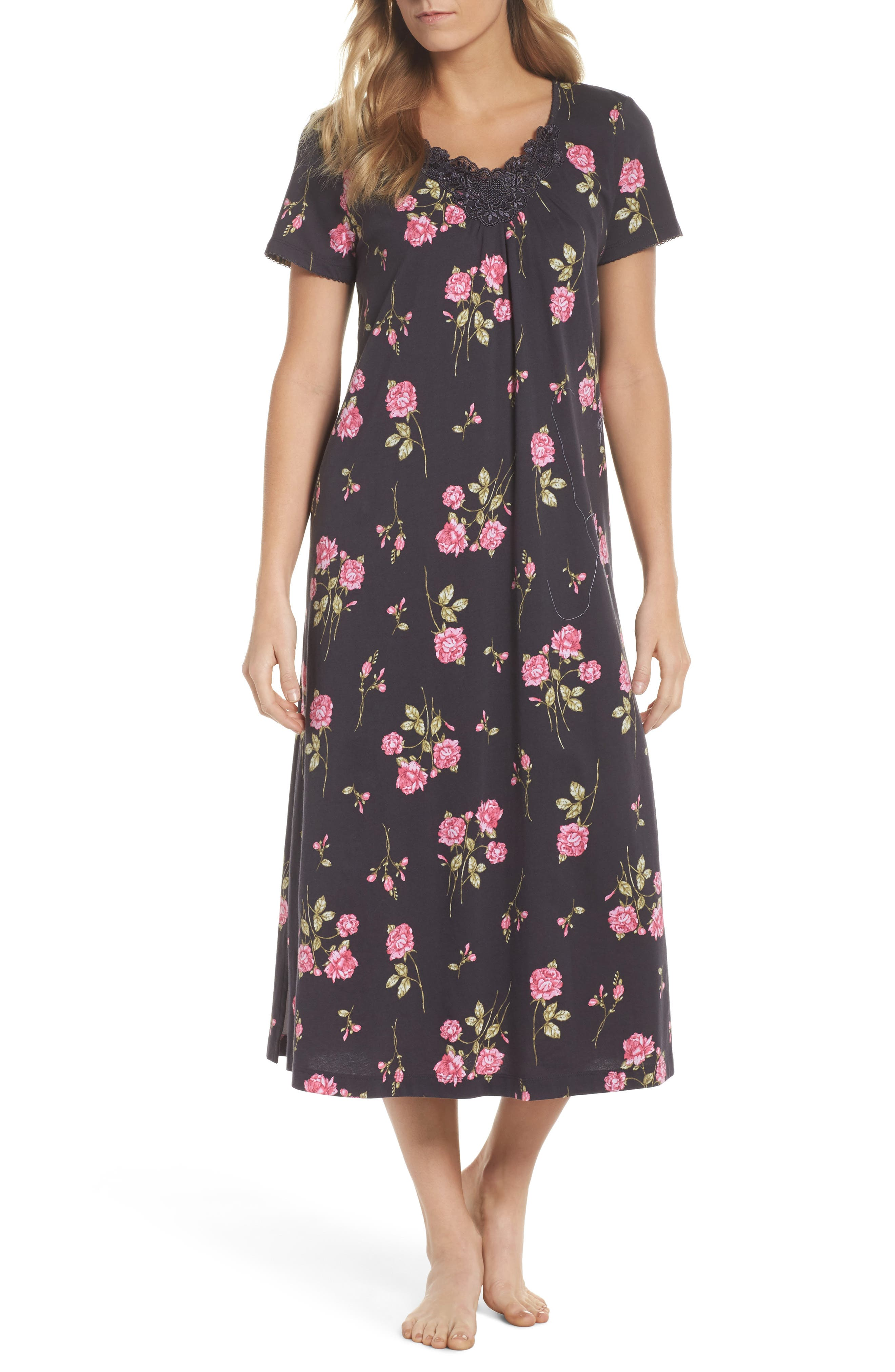 Carole Hochman Cotton Jersey Long Nightgown