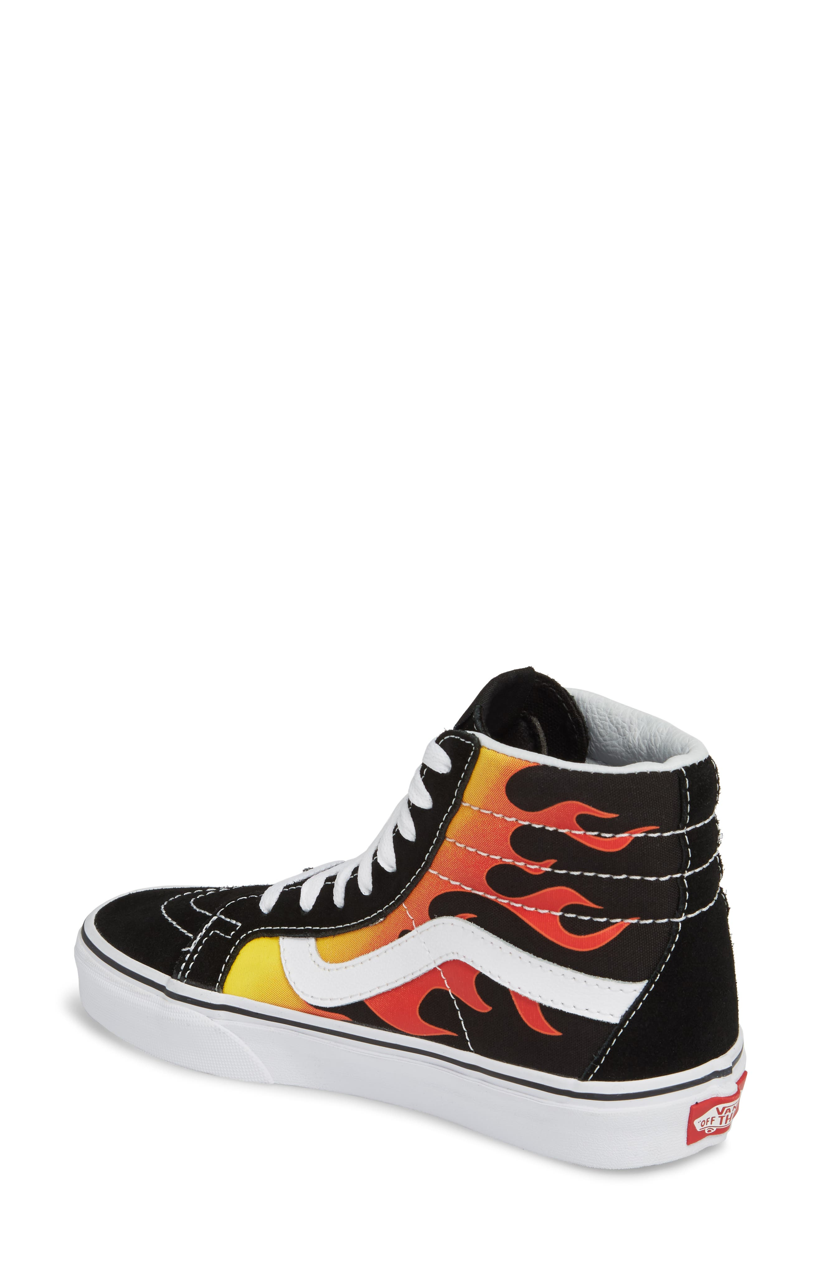 'Sk8-Hi Slim' Sneaker,                             Alternate thumbnail 2, color,                             Black/ Black/ True White