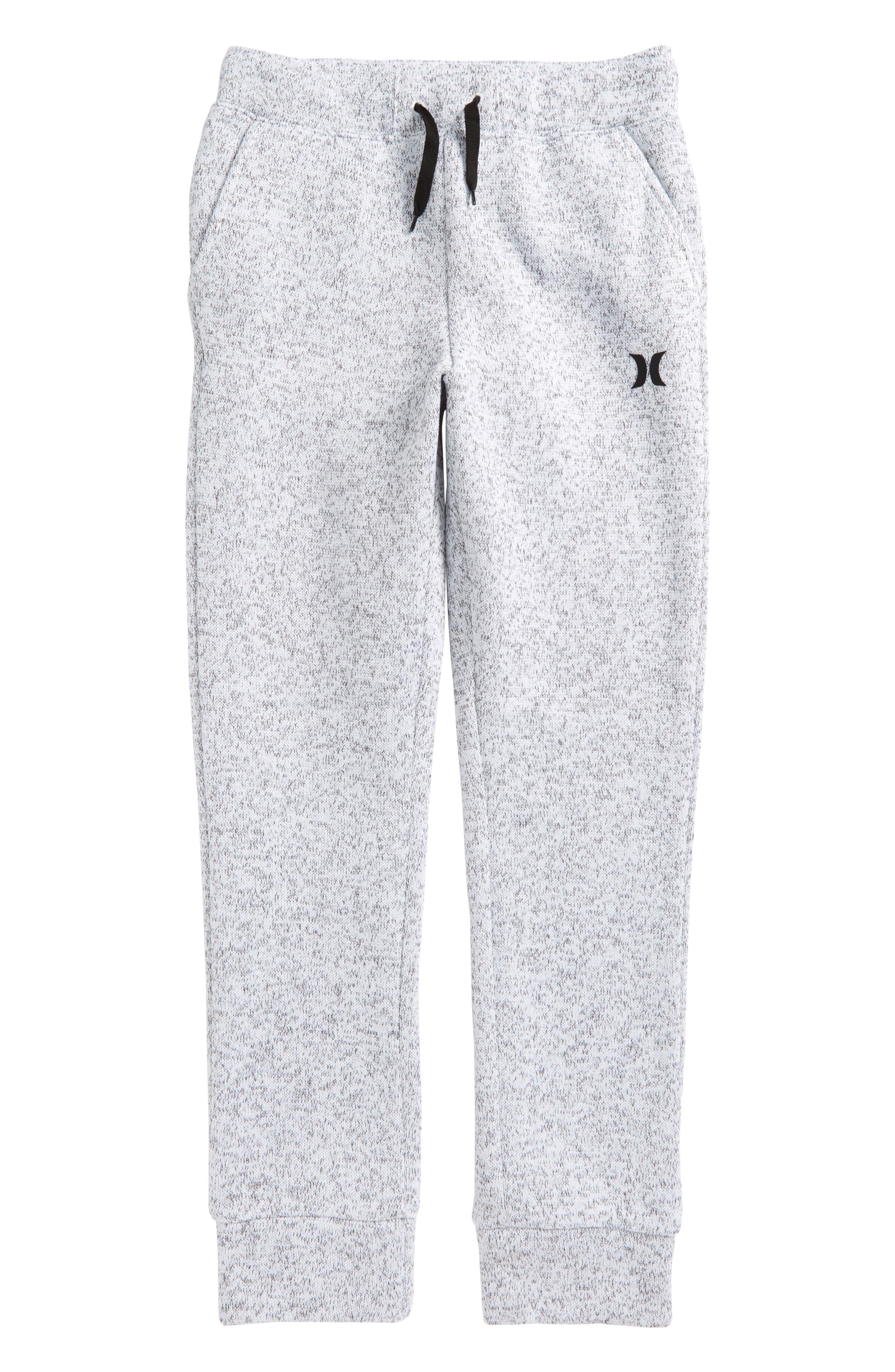 Sweater Knit Fleece Pants,                             Main thumbnail 1, color,                             White