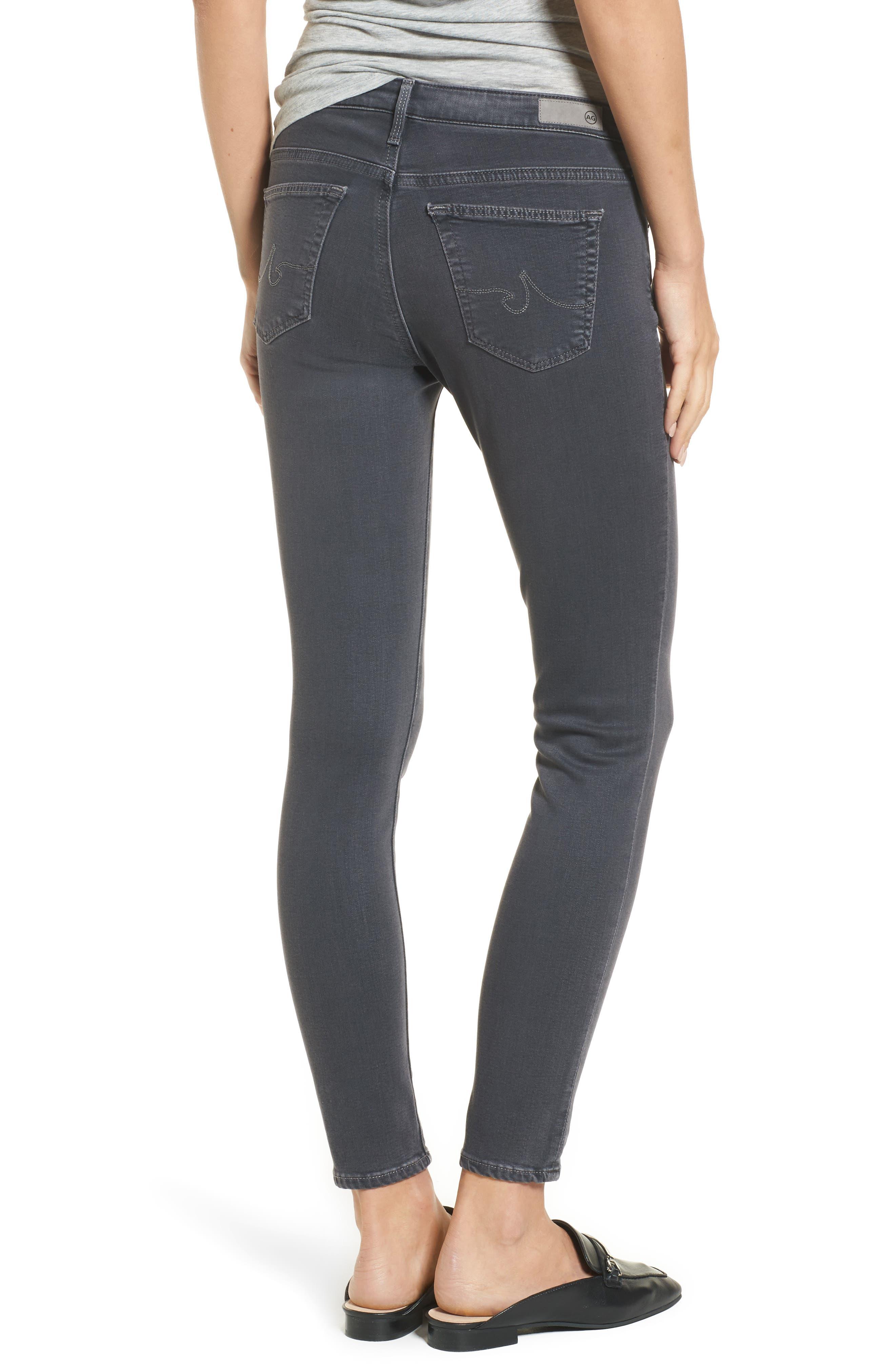 Ankle 'The Legging' Super Skinny Jeans,                             Alternate thumbnail 2, color,                             Raven Plume